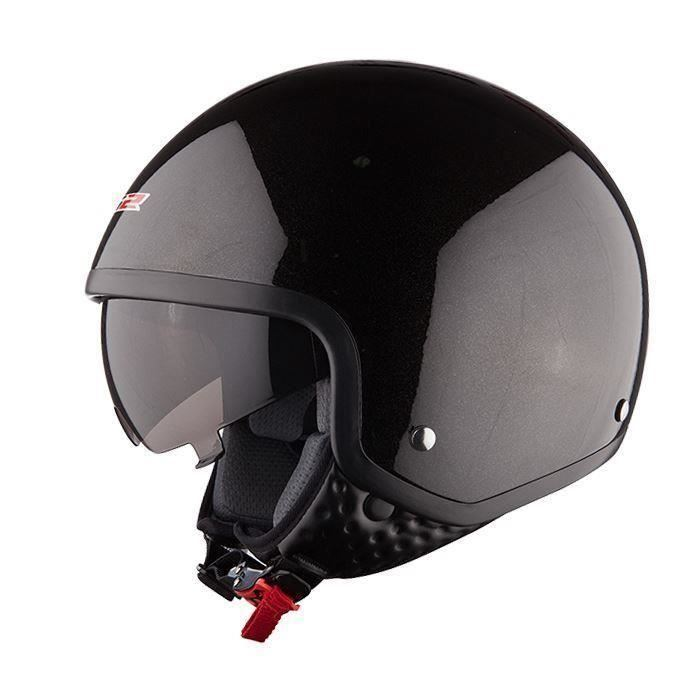 casque anti chocs ouvert visi re pour moto scooter route ls2 of561 wave ebay. Black Bedroom Furniture Sets. Home Design Ideas
