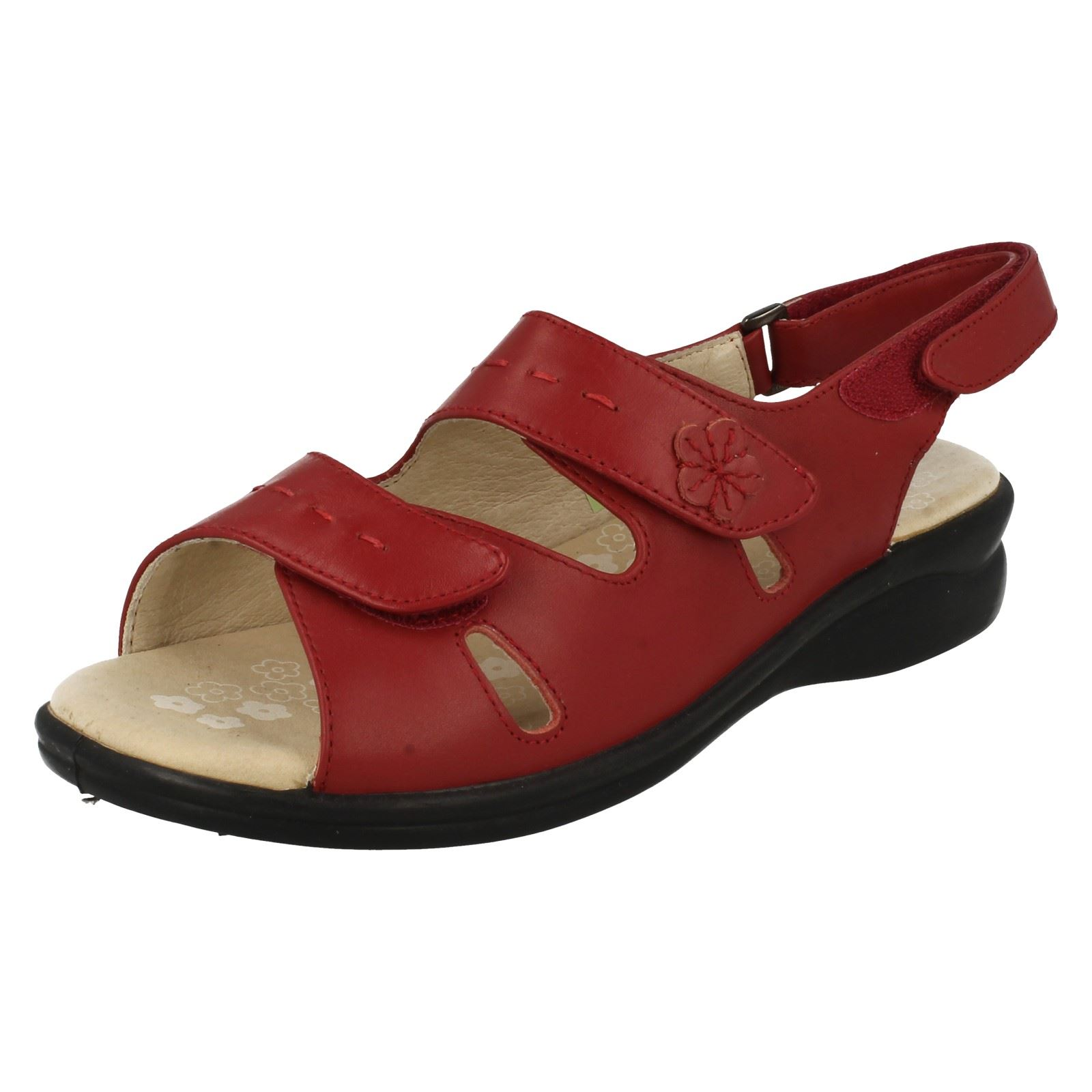 Simple Womenu0026#39;s Velcro Strap Mostic Flat Sandal By Gabor At Walk In Style