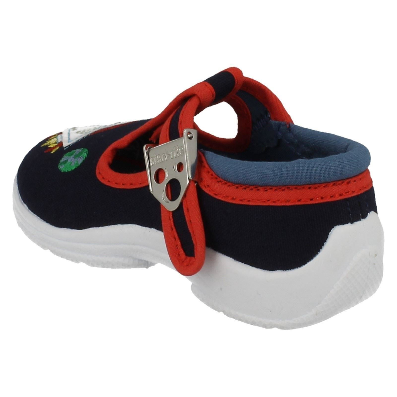 boys startrite canvas shoes with clasp fastening space