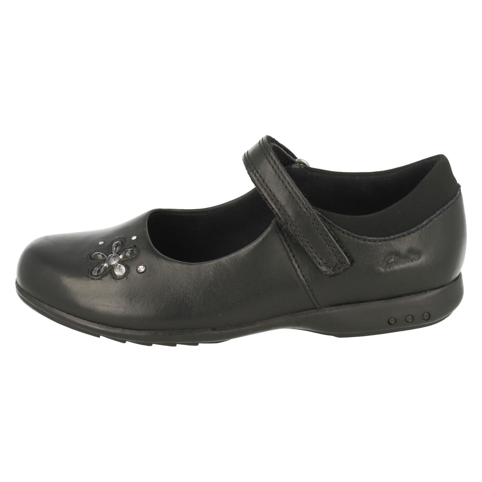 30e207cf2c0 Baby BNIB Clarks Girls Ella Glow Grey Patent Leather Lights First Shoes F  Fitting
