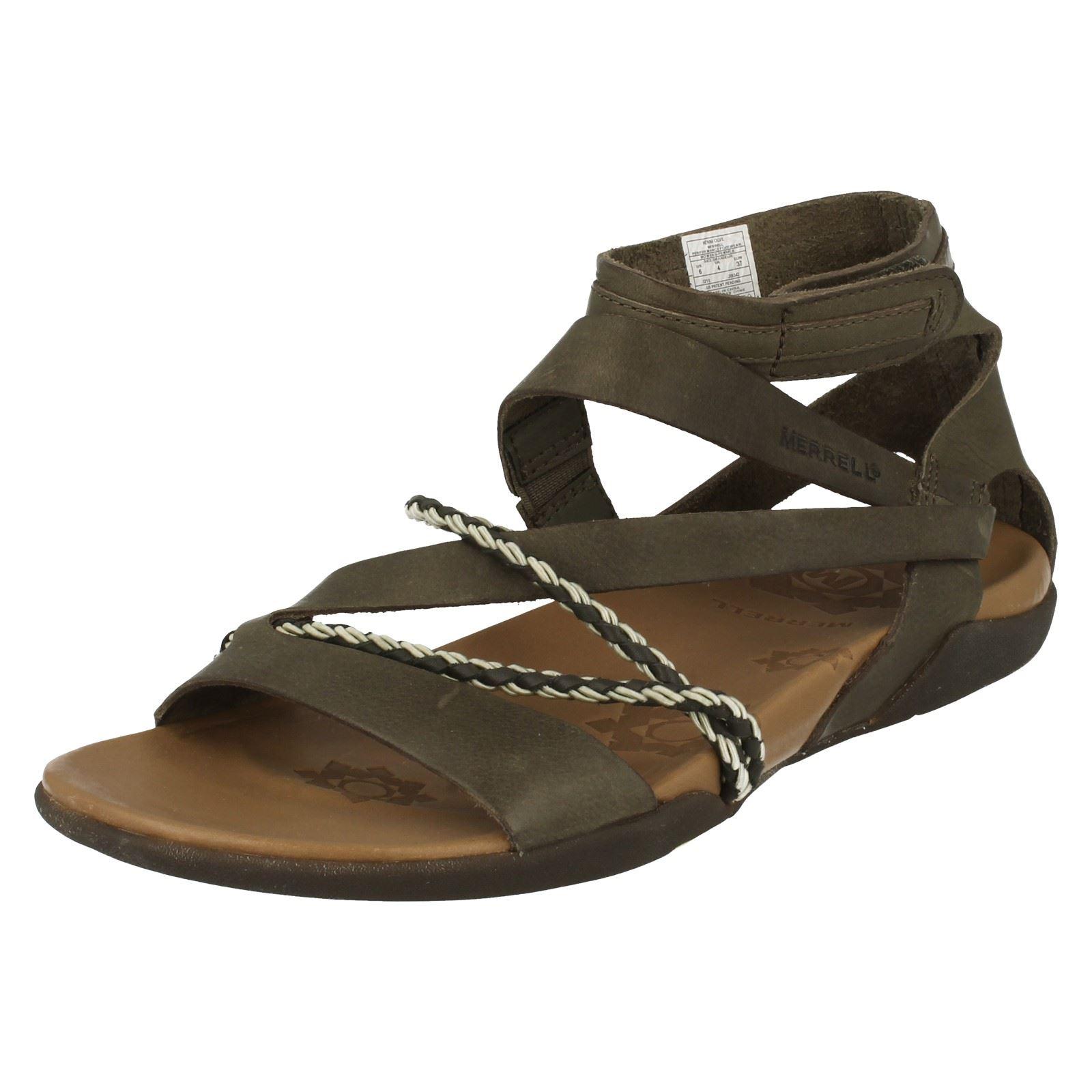 Ladies Merrell Sandals Henna Ebay