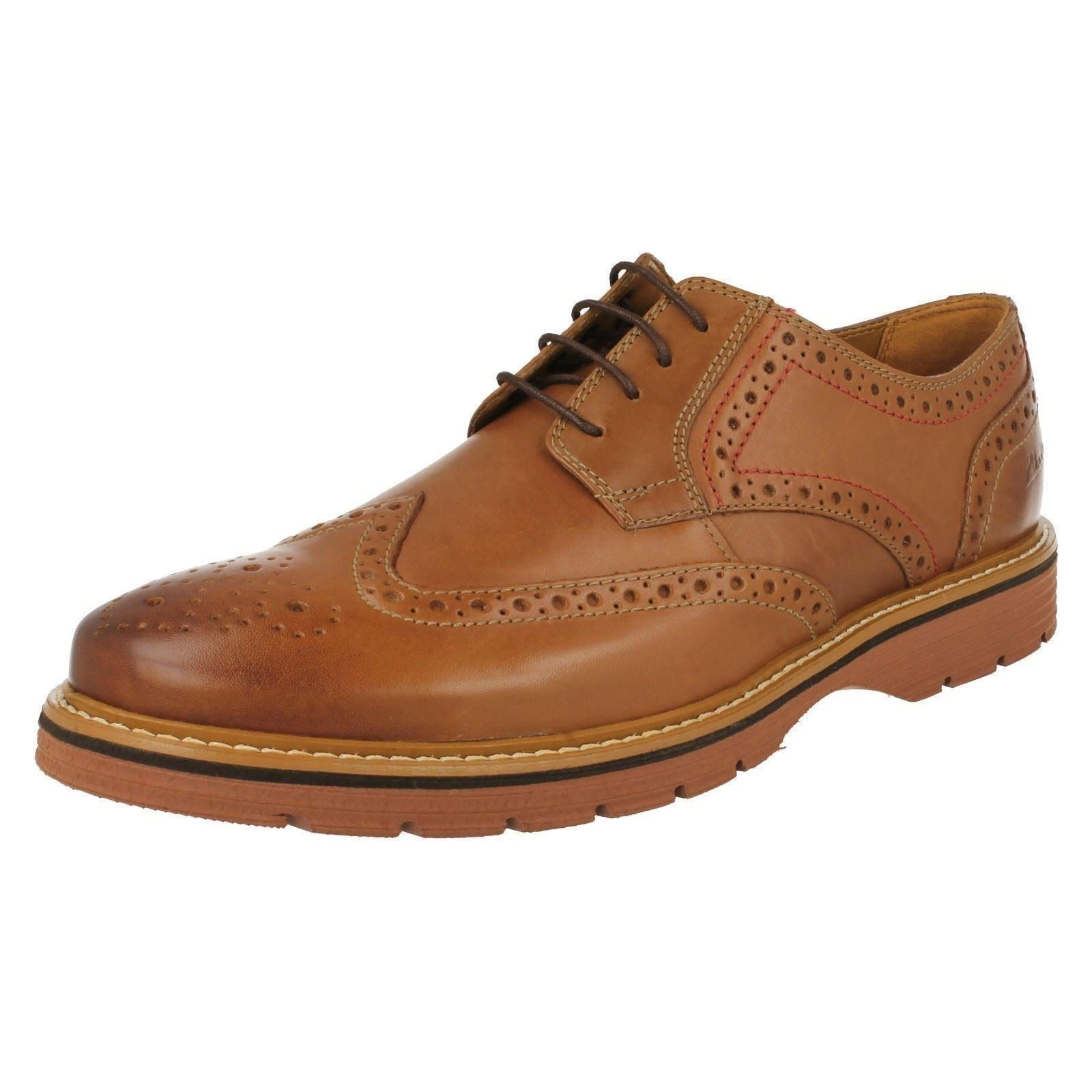 Mens Clarks Brogue Shoes Newkirk Wing