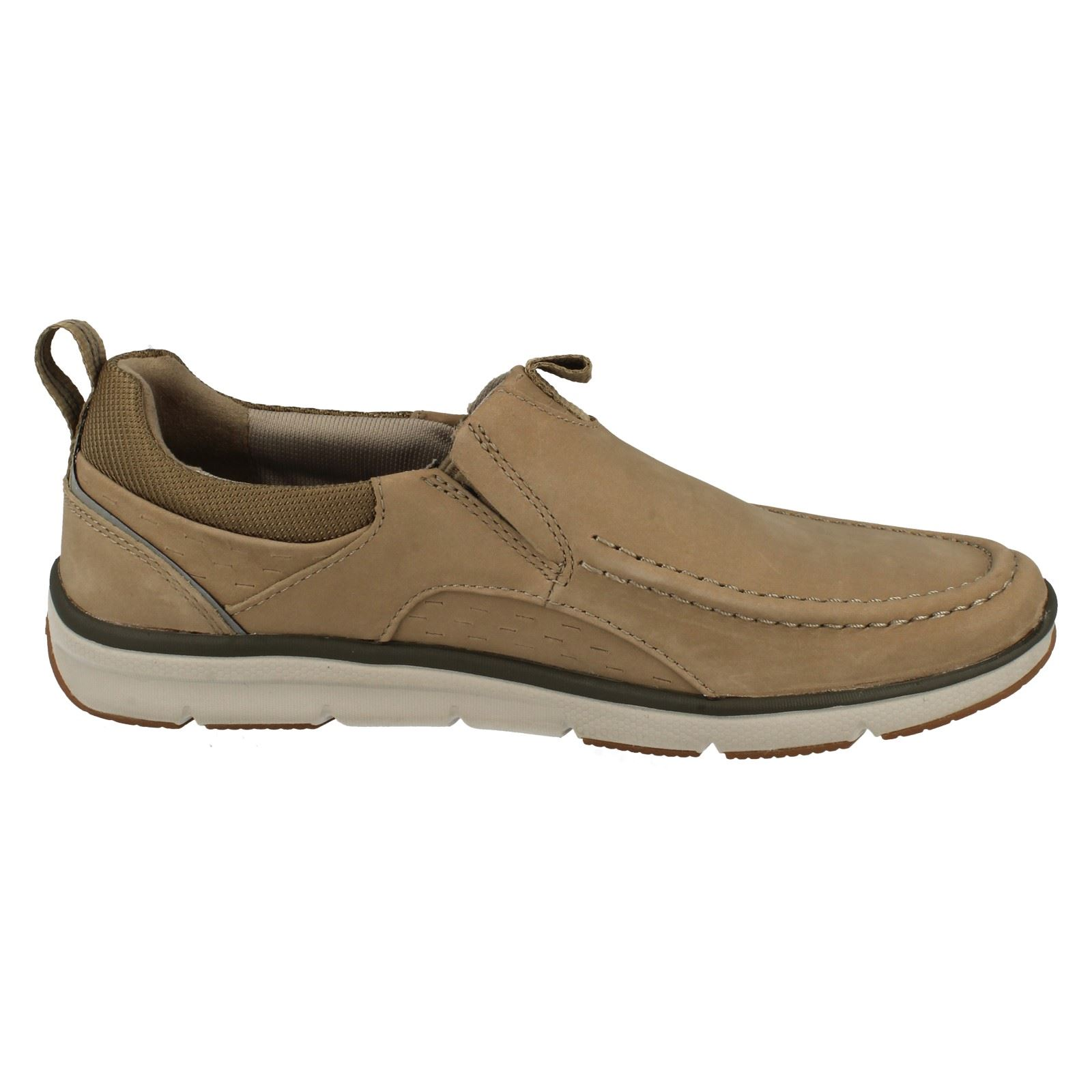 mens clarks moccasin style casual slip on shoes orson row