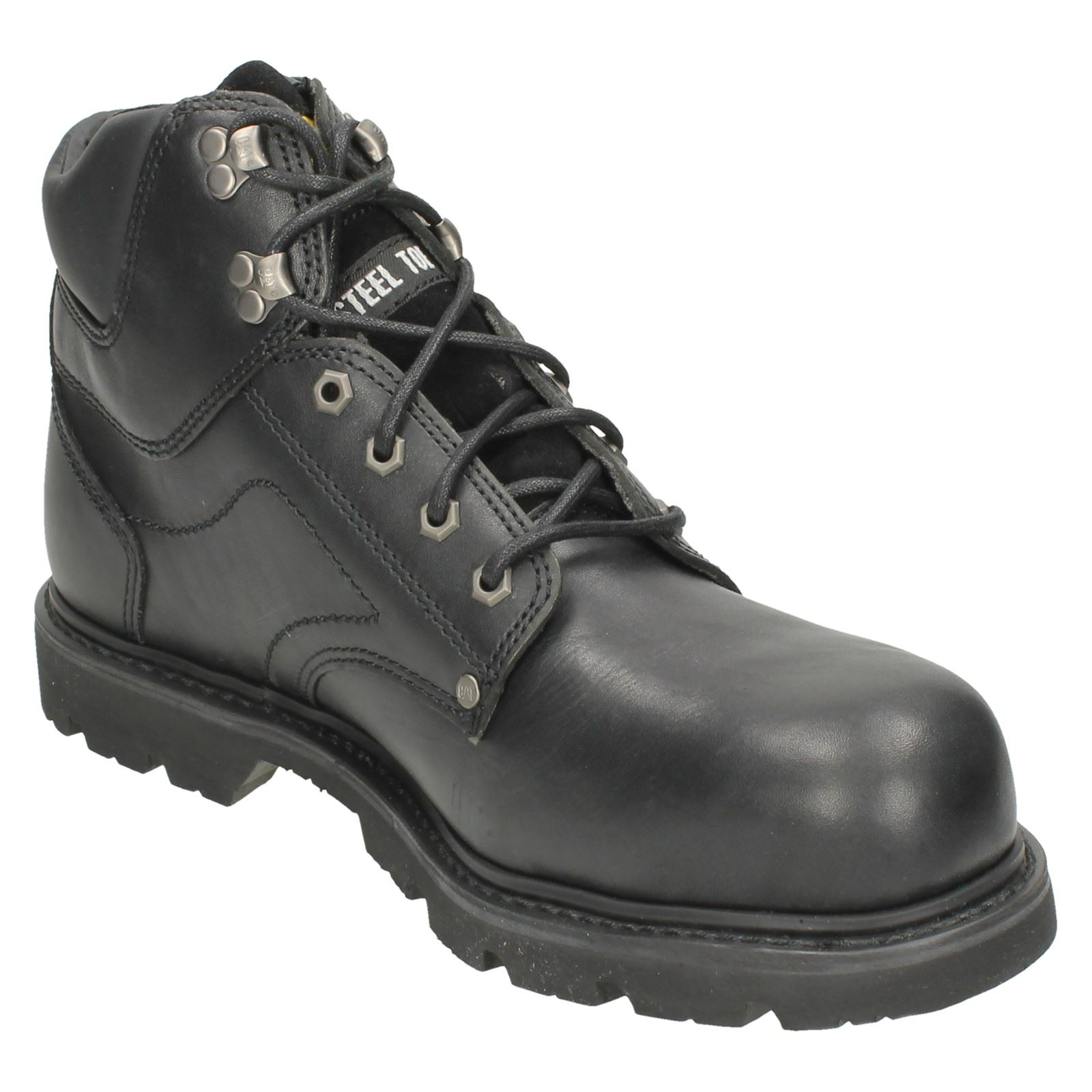 mens caterpillar steel toe cap ankle boots grouser st ebay