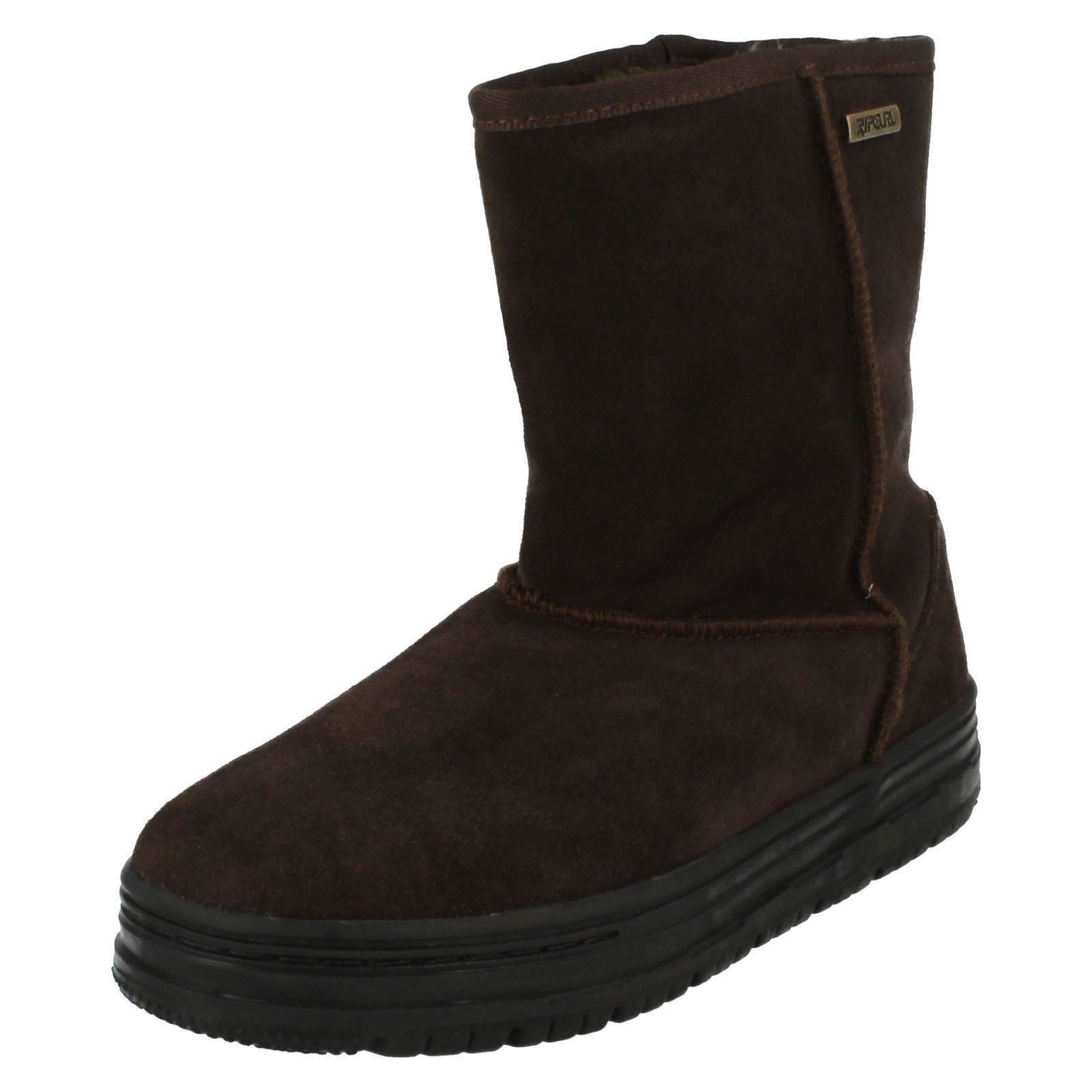 rip curl fleece lined suede boot country side ebay