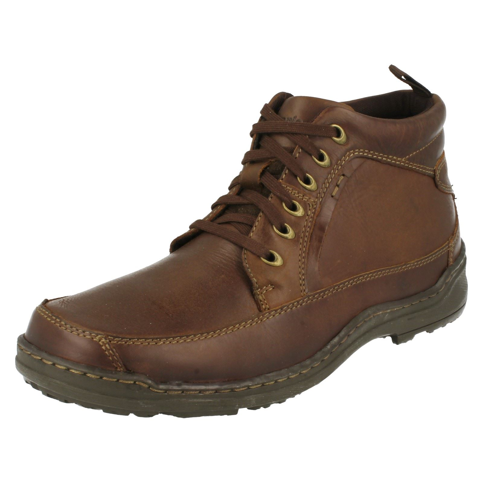 mens hush puppies grounds lace boot casual ankle boots ebay