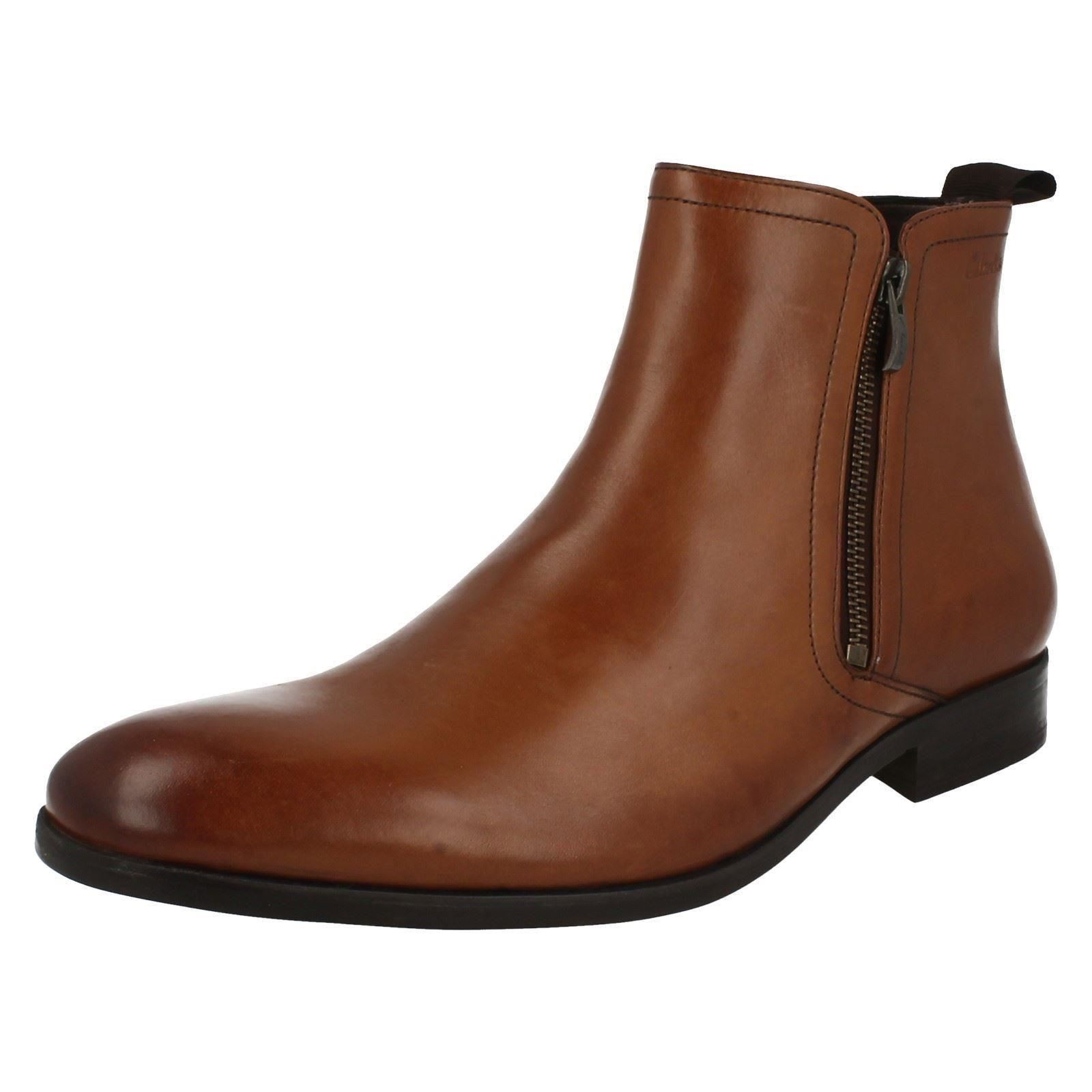 clarks mens ankle boots banfield zip ebay