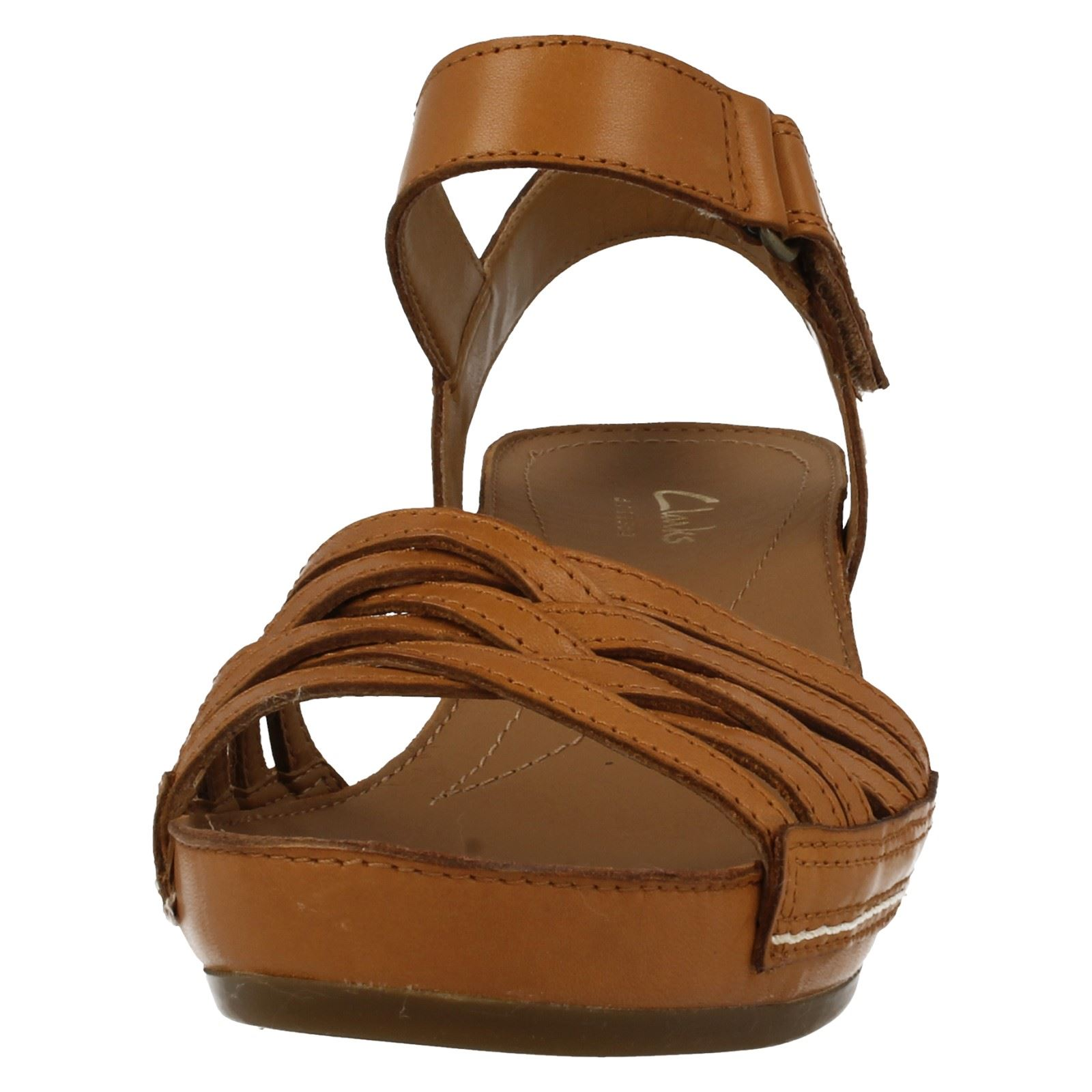 382d775320a0f Ladies-Clarks-Wedge-Sandals-Rusty-Wish thumbnail 8