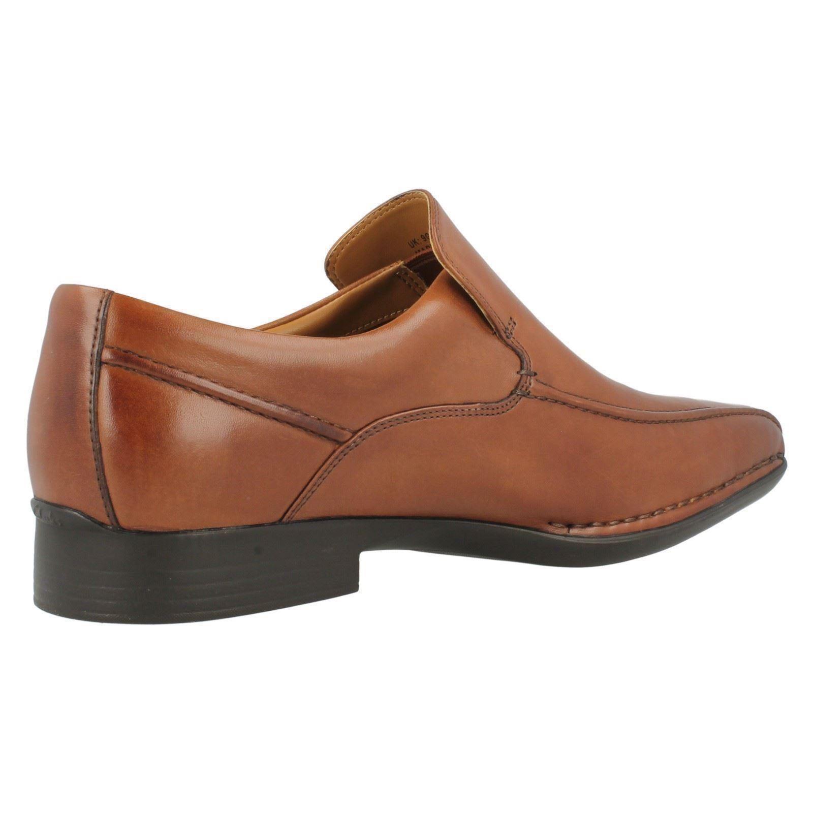mens clarks formal slip on shoes francis flight ebay