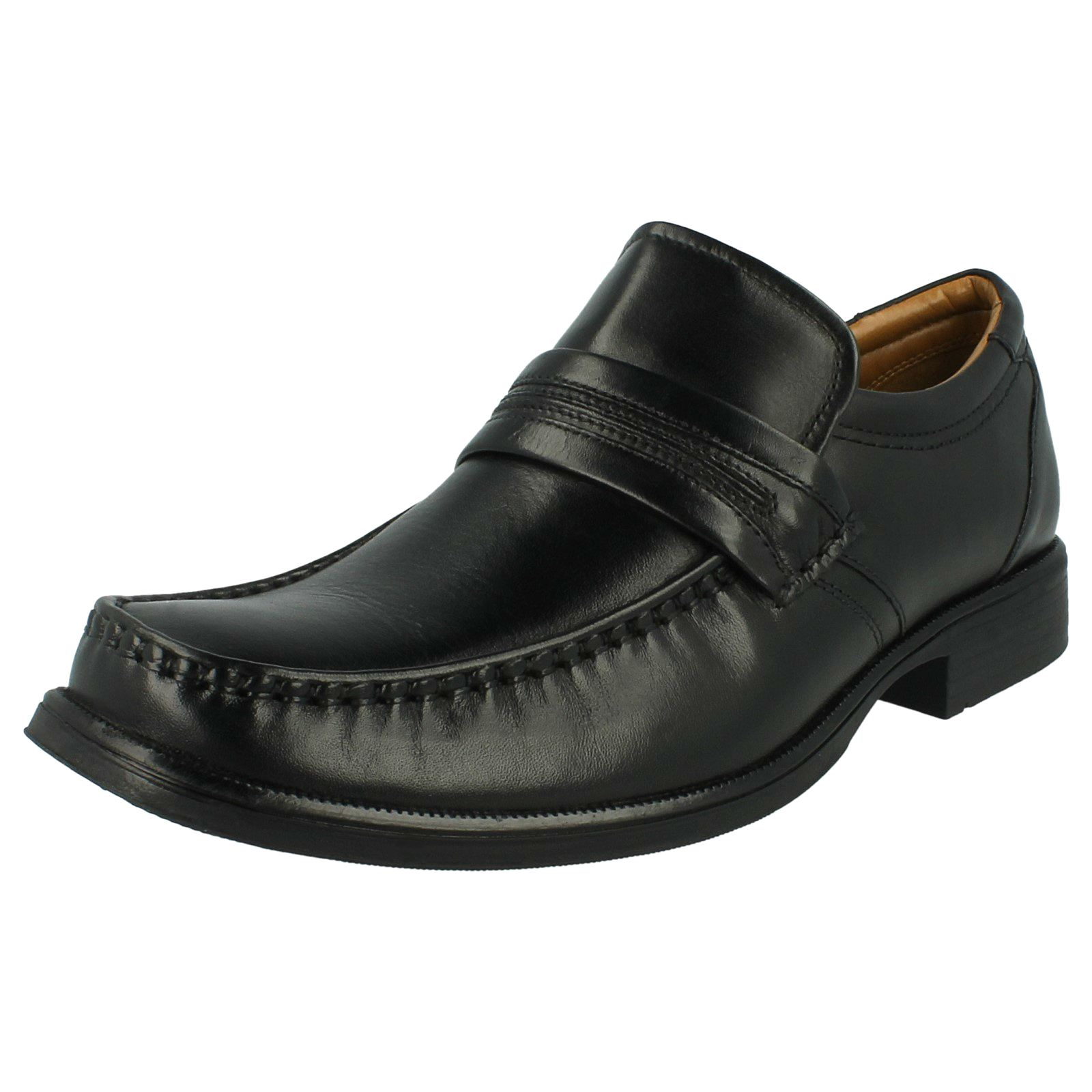 mens clarks hold work formal slip on shoes ebay