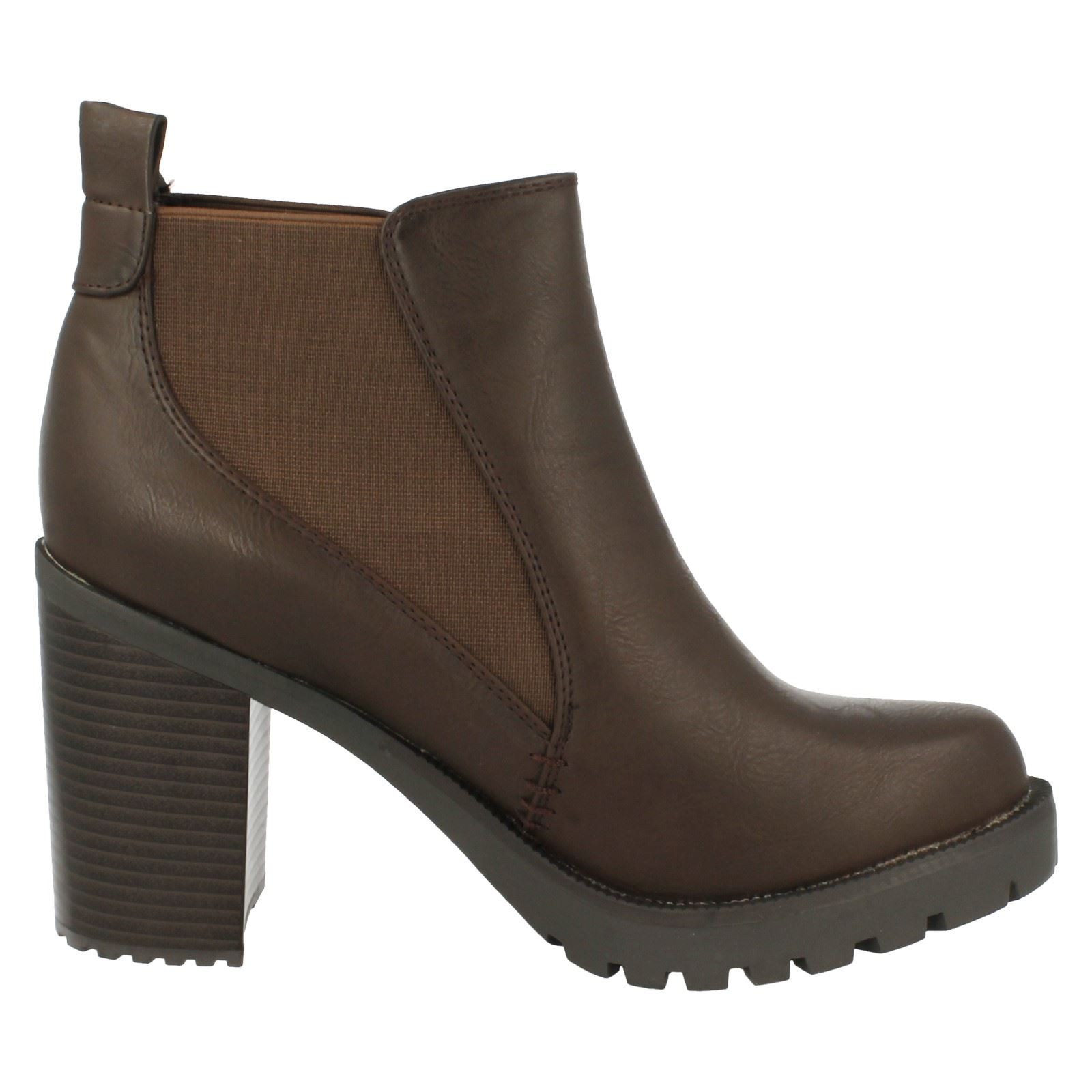 firetrap chunky heel ankle boots quill ebay
