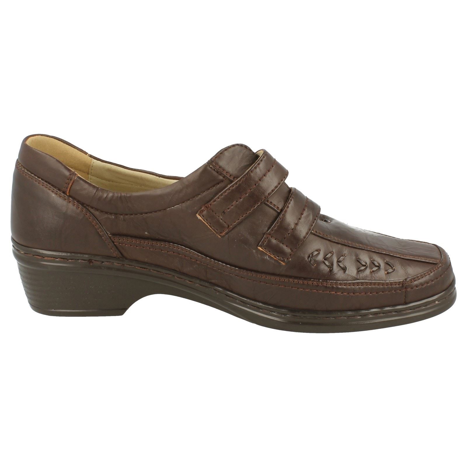 eaze low wedge casual shoes velcro fastening