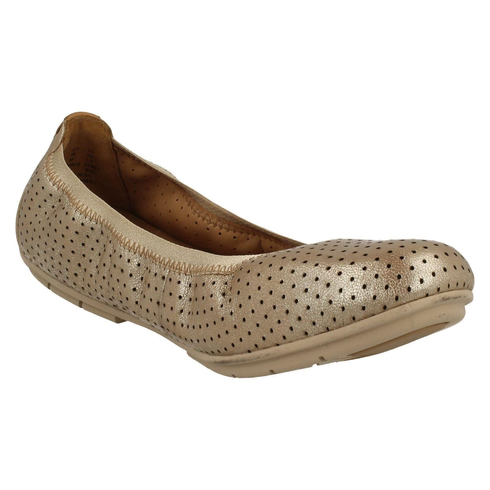 Ladies Unstructured By Clarks Flat Shoes Un Tract