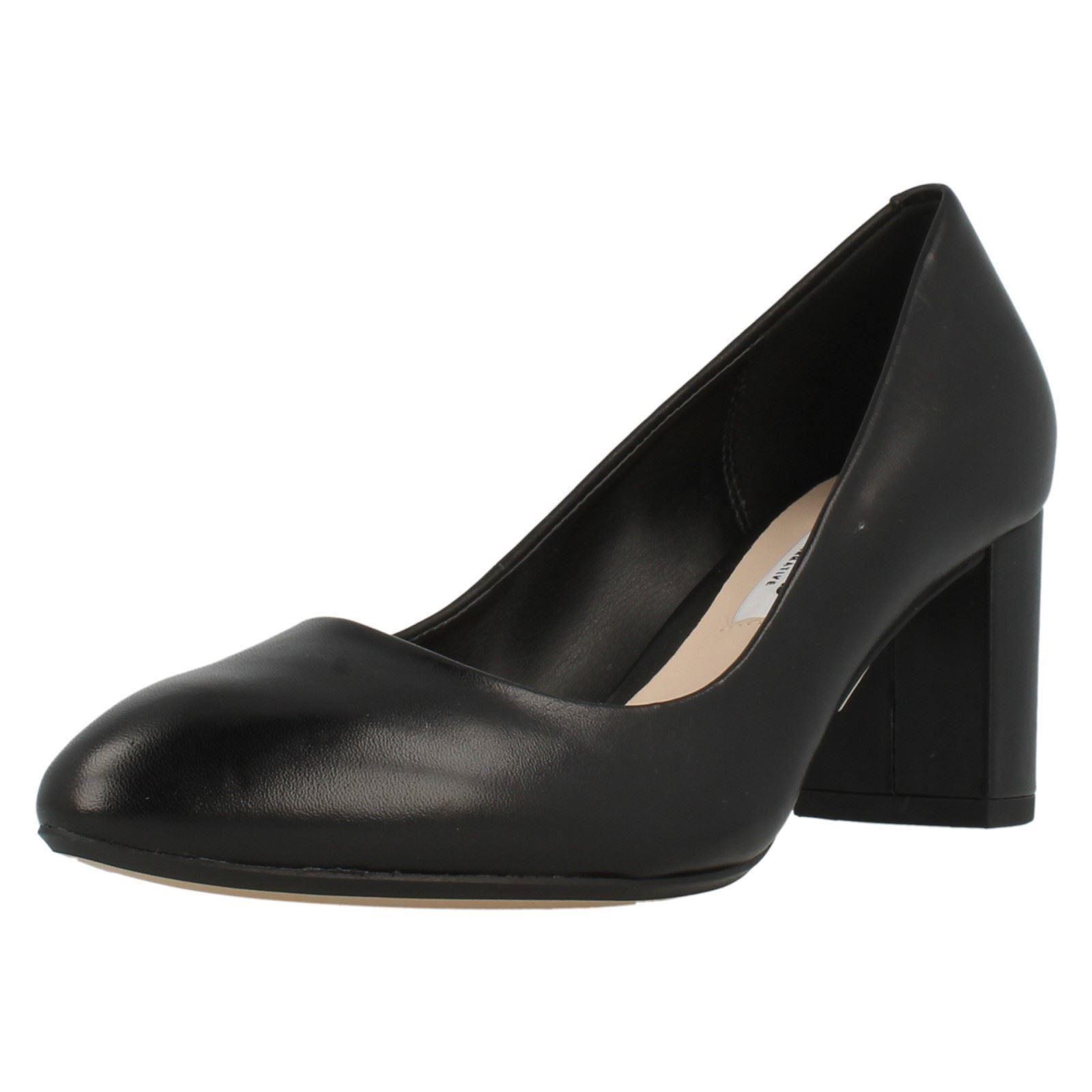 Chunky Heel Court Shoe