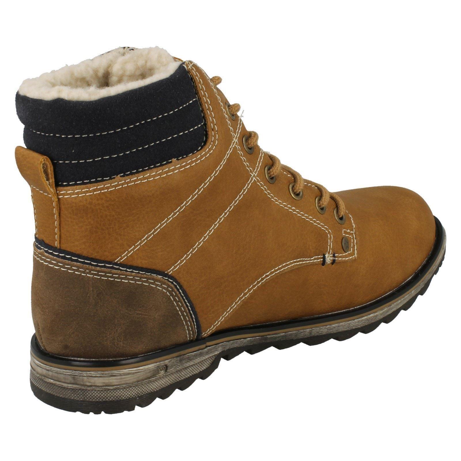 boys jcdees fleece lined ankle boot ebay