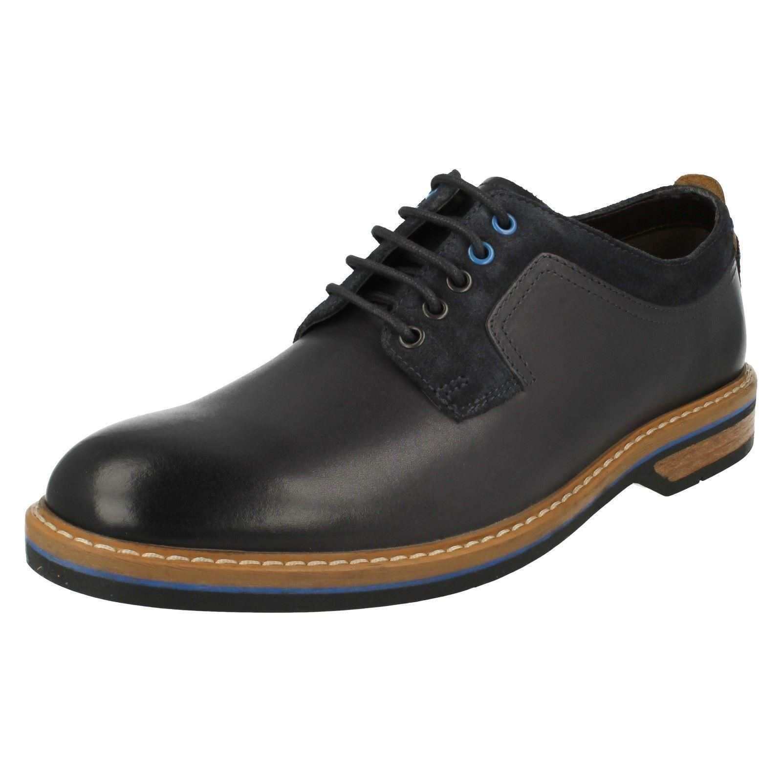 mens clarks lace up shoes pitney walk ebay