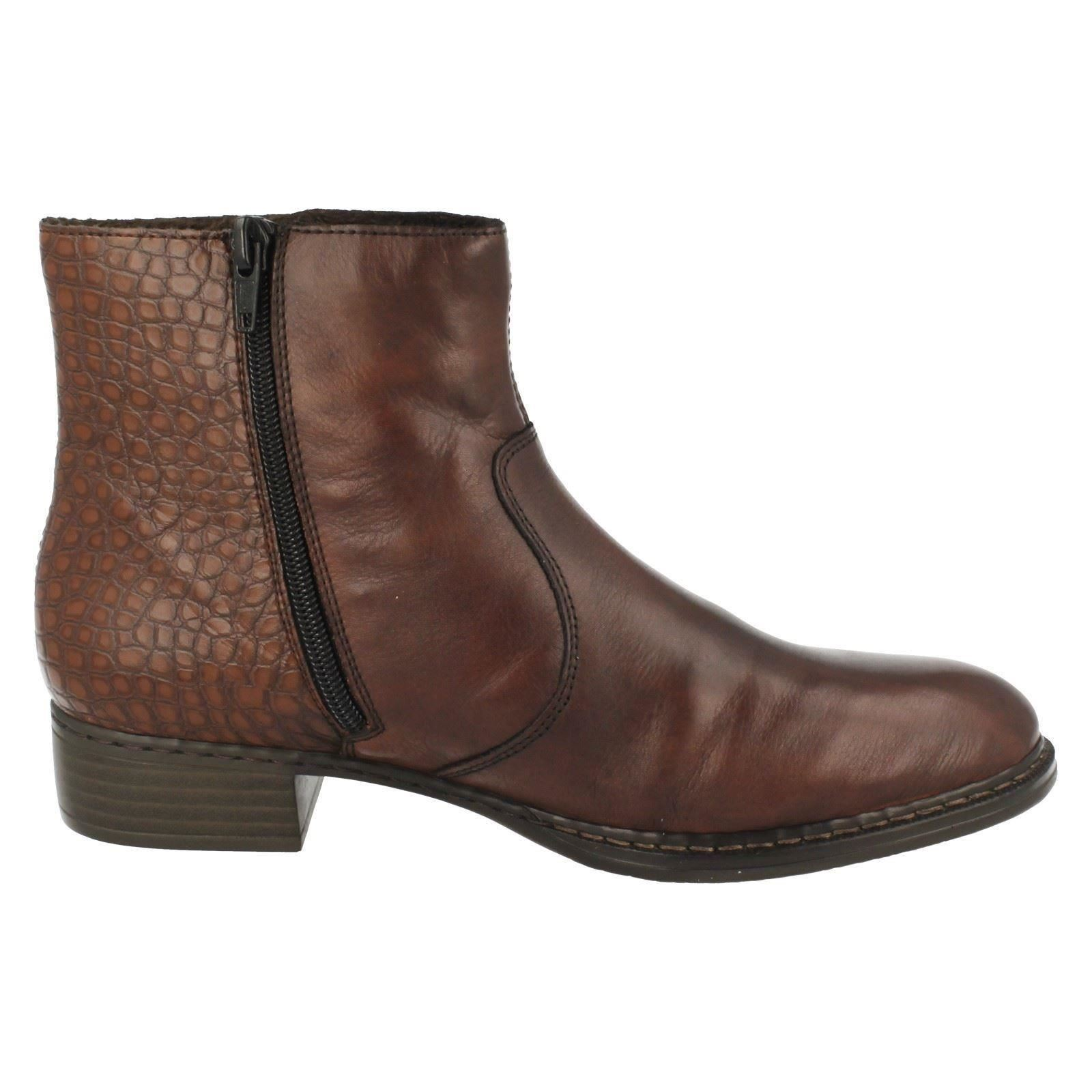 rieker warm lined leather ankle boots 73490