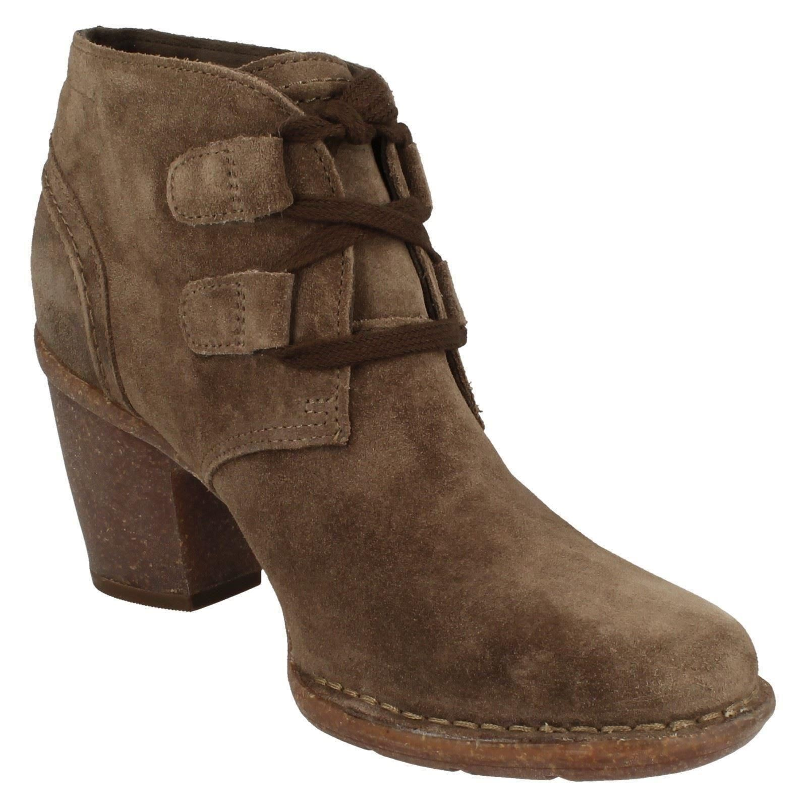 clarks suede leather lace up ankle boots carleta