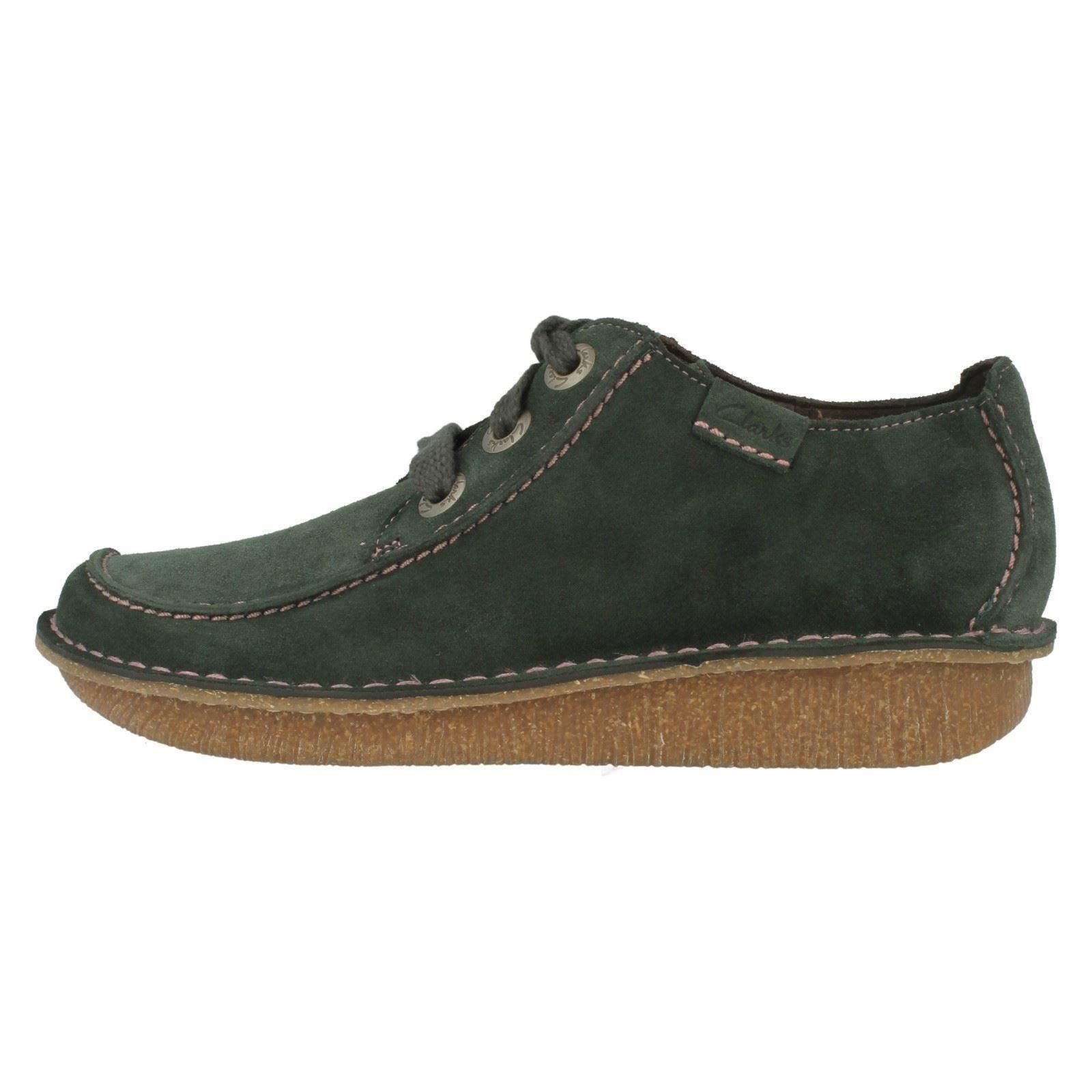 Ladies Clarks Leather Lace Up Shoes