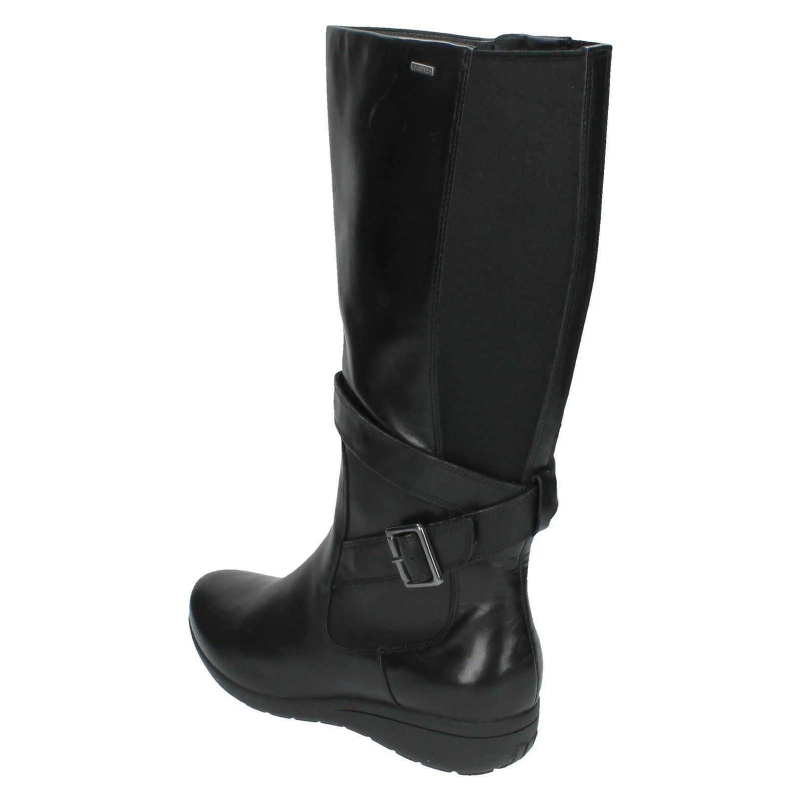 Ladies clarks gore tex high leg boots 39 mild fresco 39 ebay for Clarks mural fresco boots