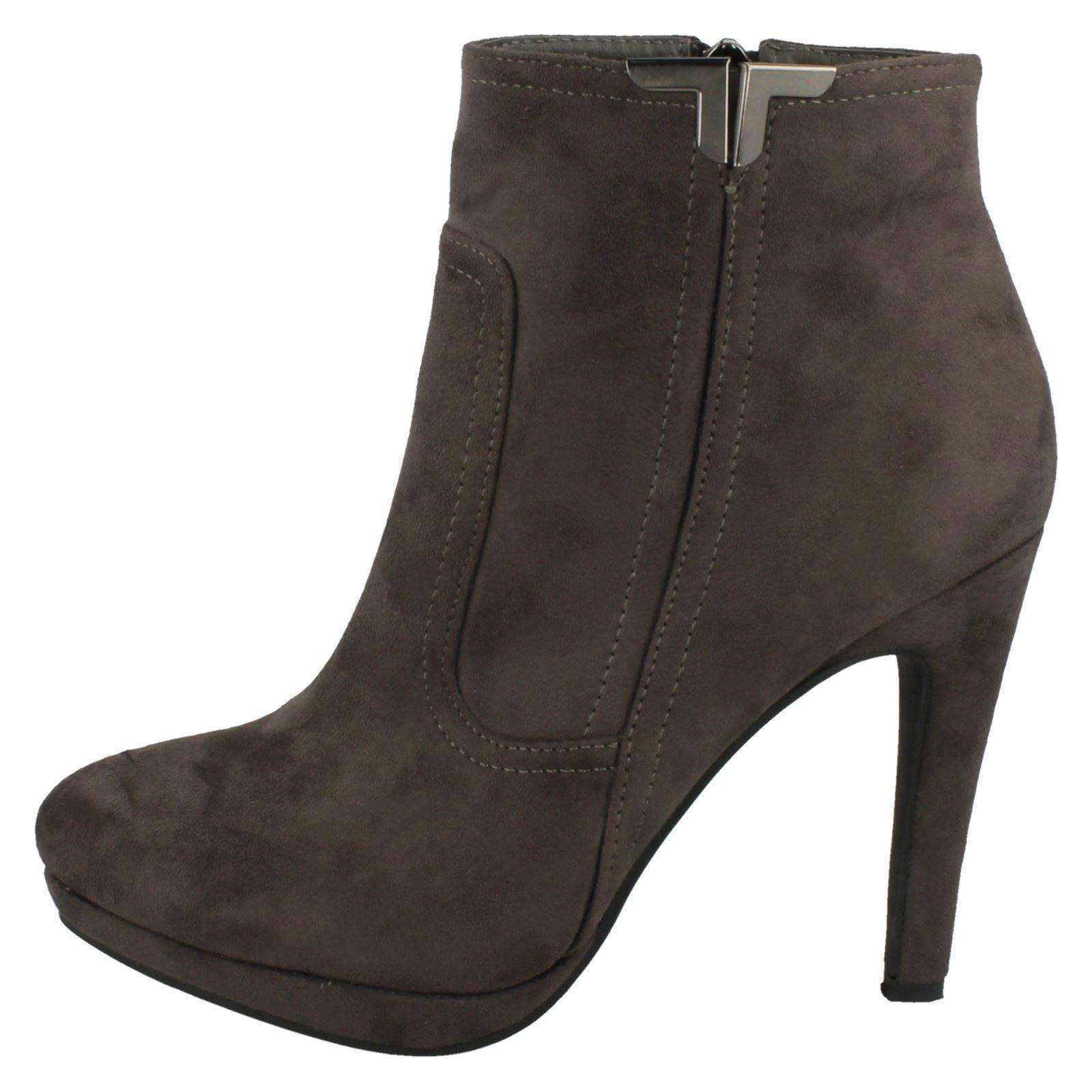 spot on style 067 slim heel ankle boots ebay