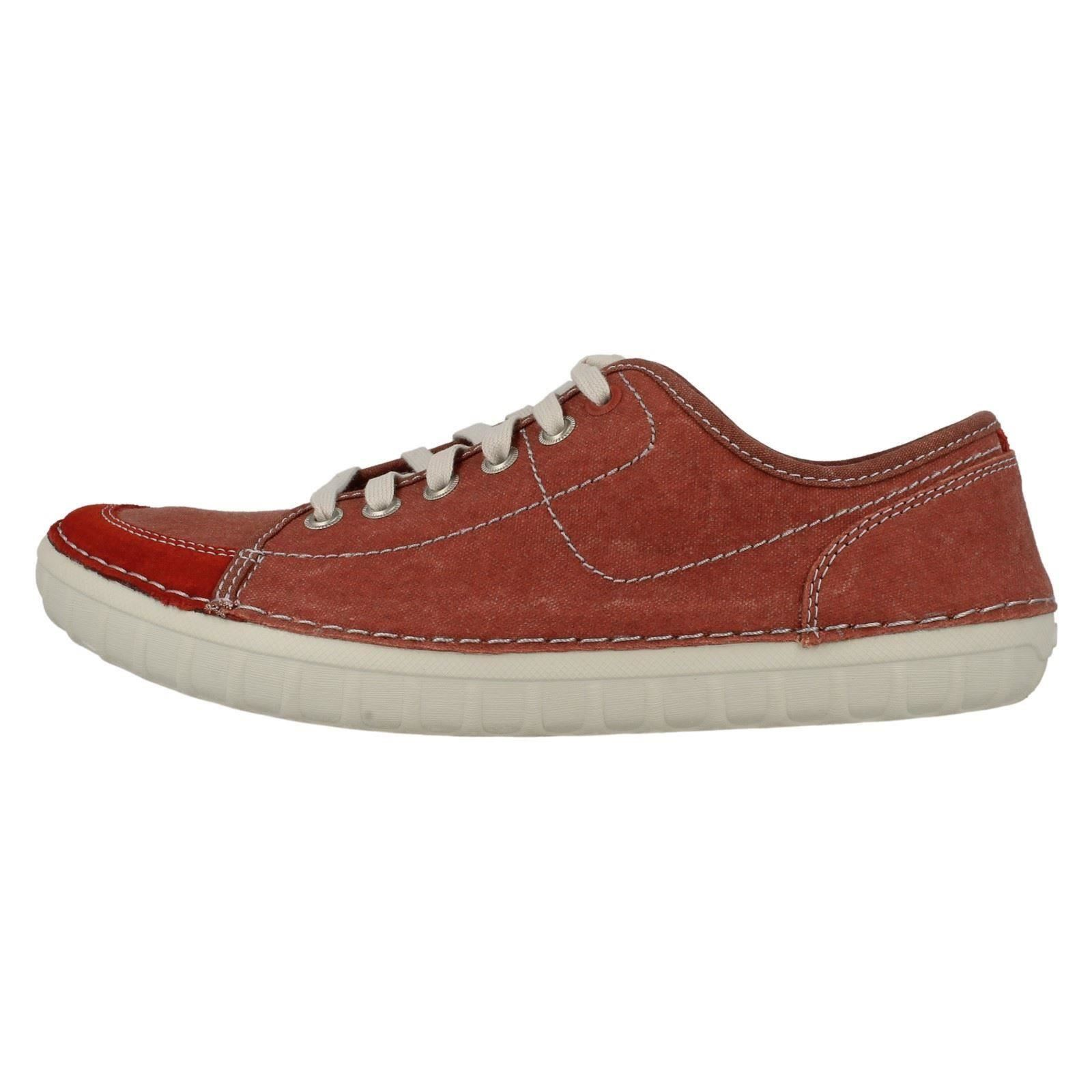 mens clarks canvas lace up shoes kornel row ebay
