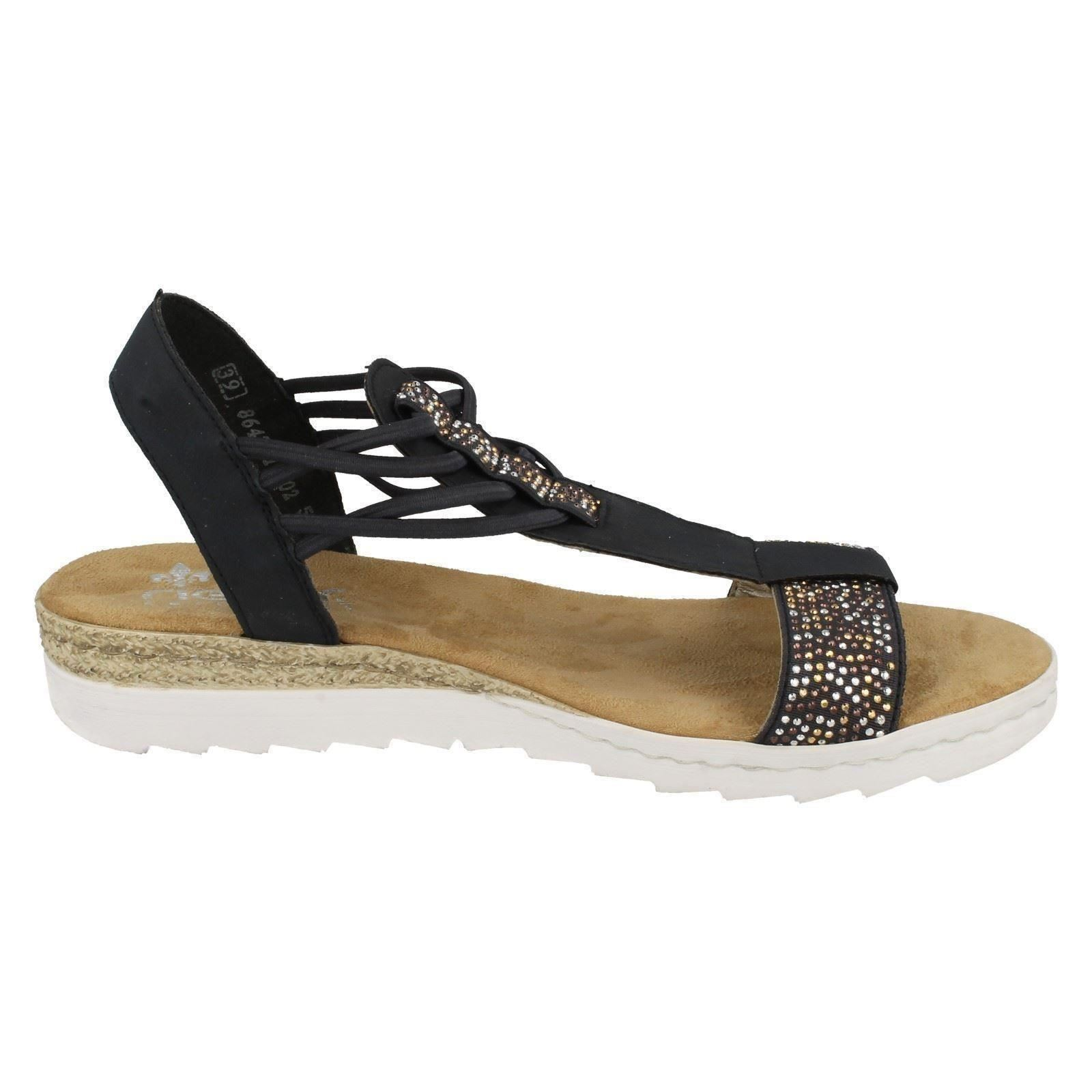 rieker wedge heel sandals 63062 ebay