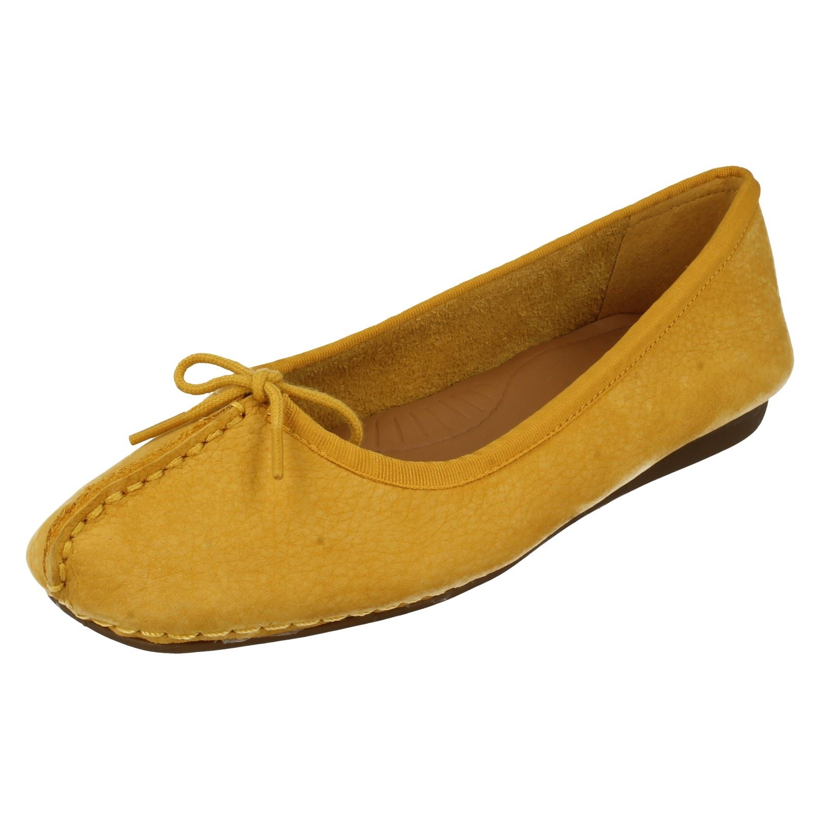 Ladies Clarks Comfortable Flats Freckle Ice Ebay