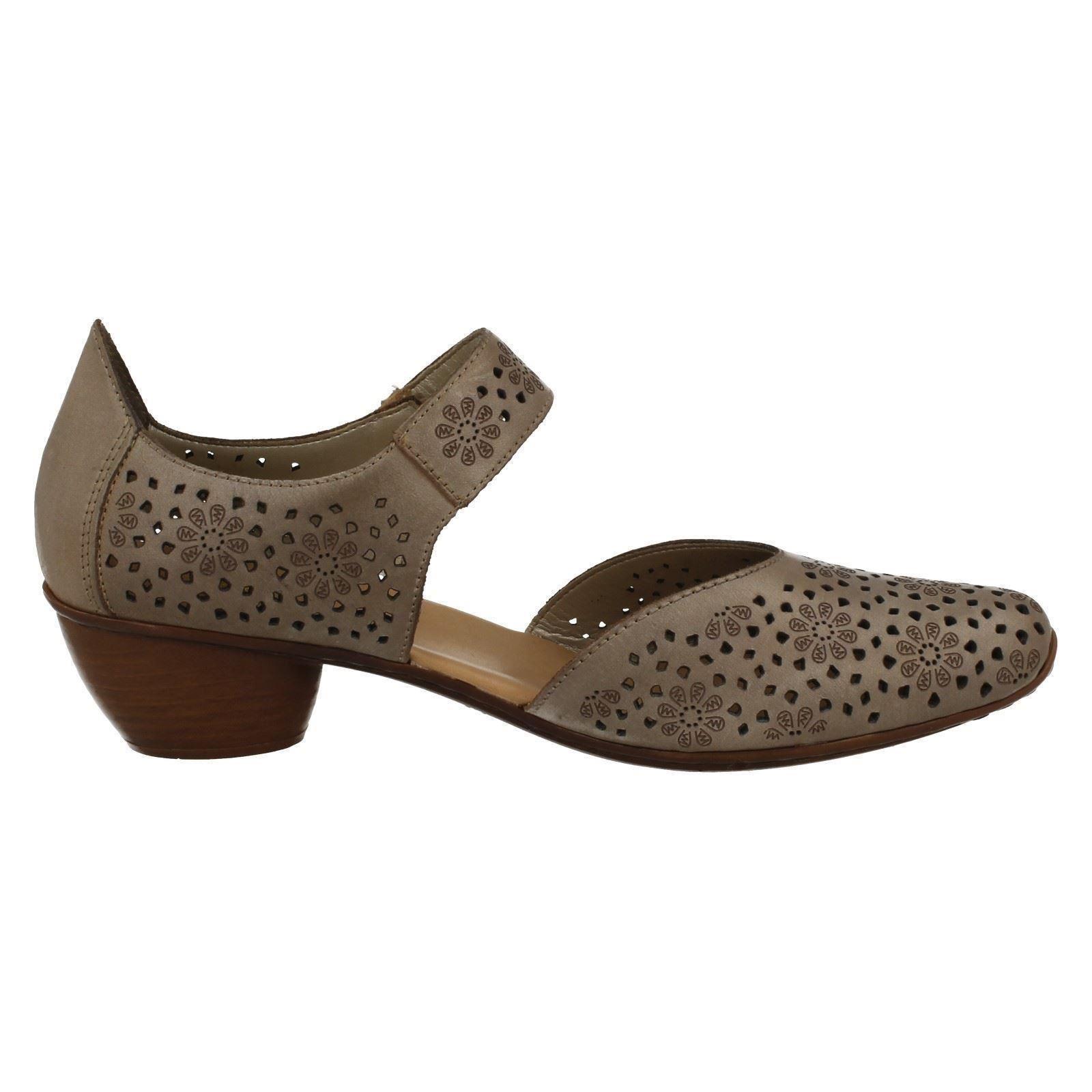 rieker low heel leather shoes 43711 ebay