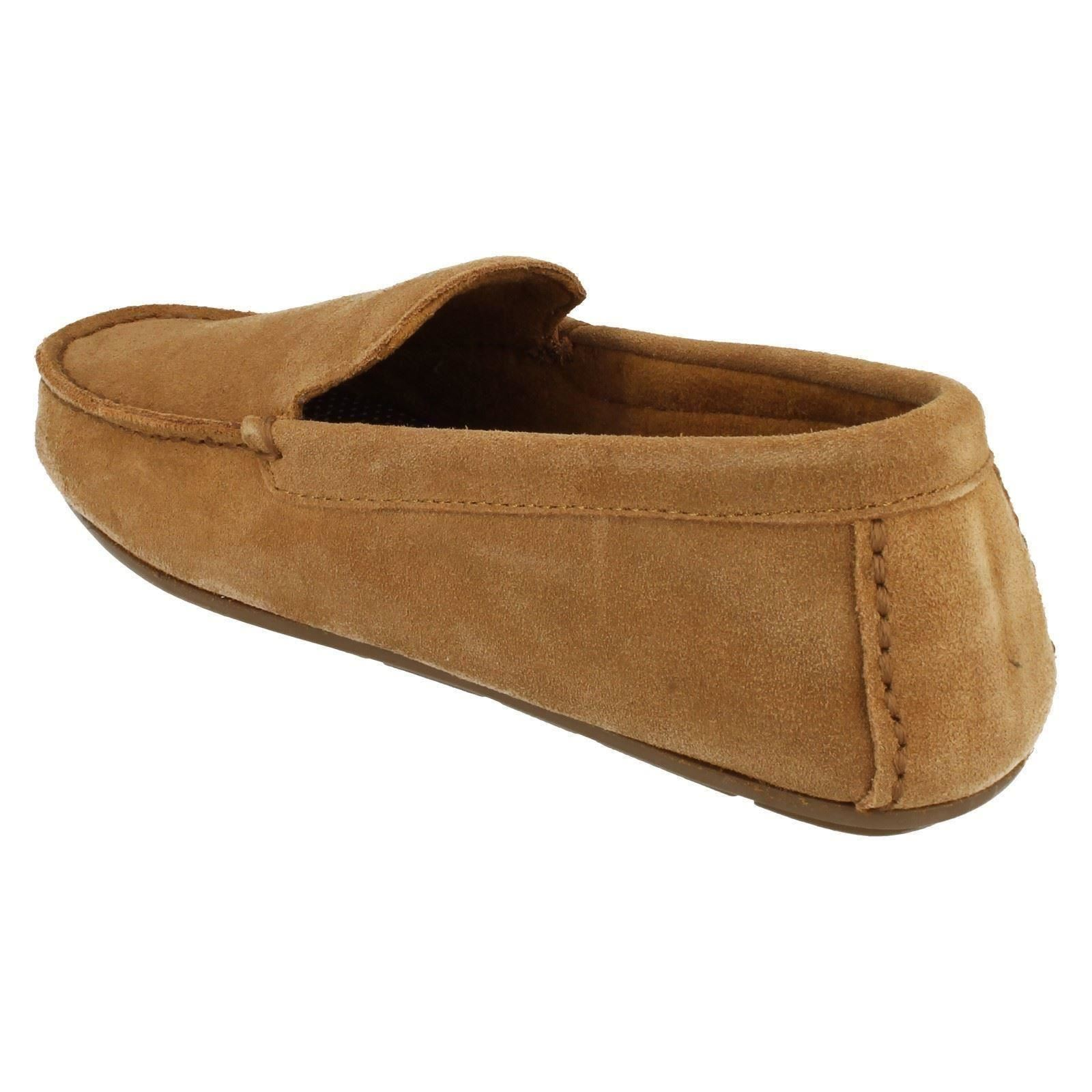 Mens Clarks Full House Slippers Kite Kindling