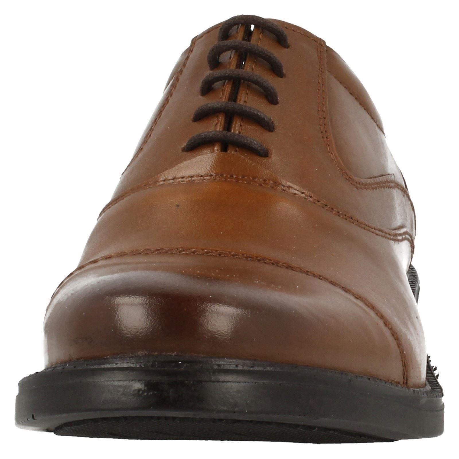 Mens Hush Puppies Formal Lace Up Leather Shoes Rockford