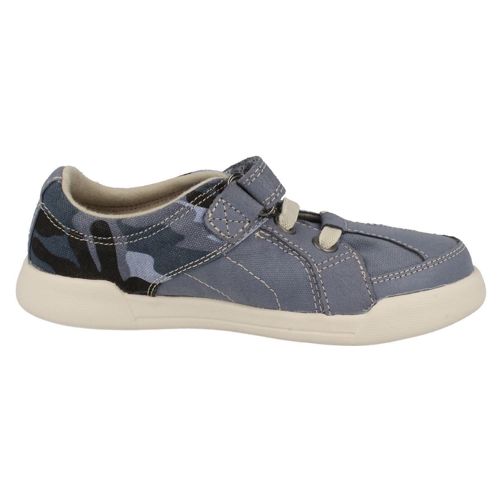 clarks boys canvas shoes kintor lad ebay