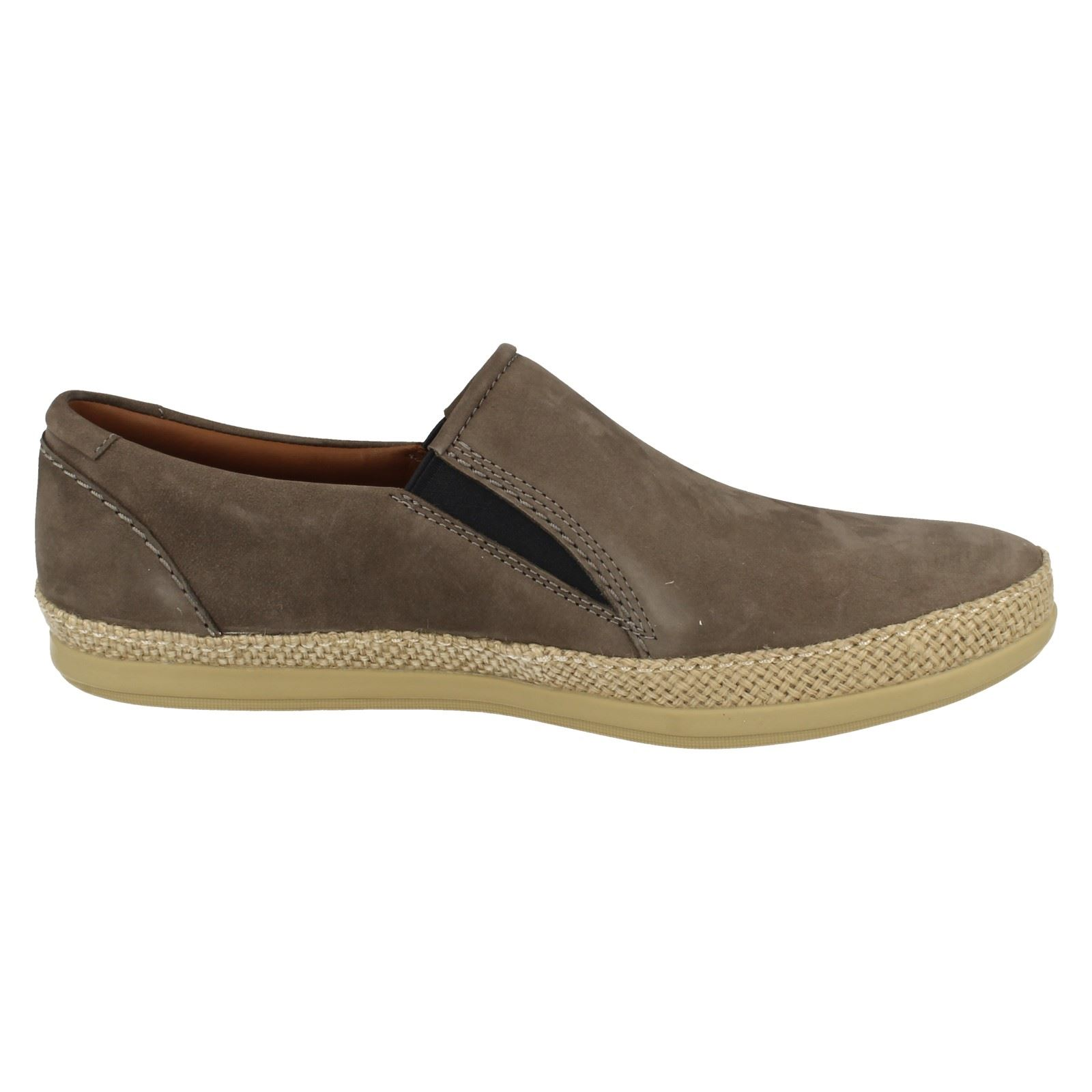 mens clarks casual slip on leather shoes mask step ebay