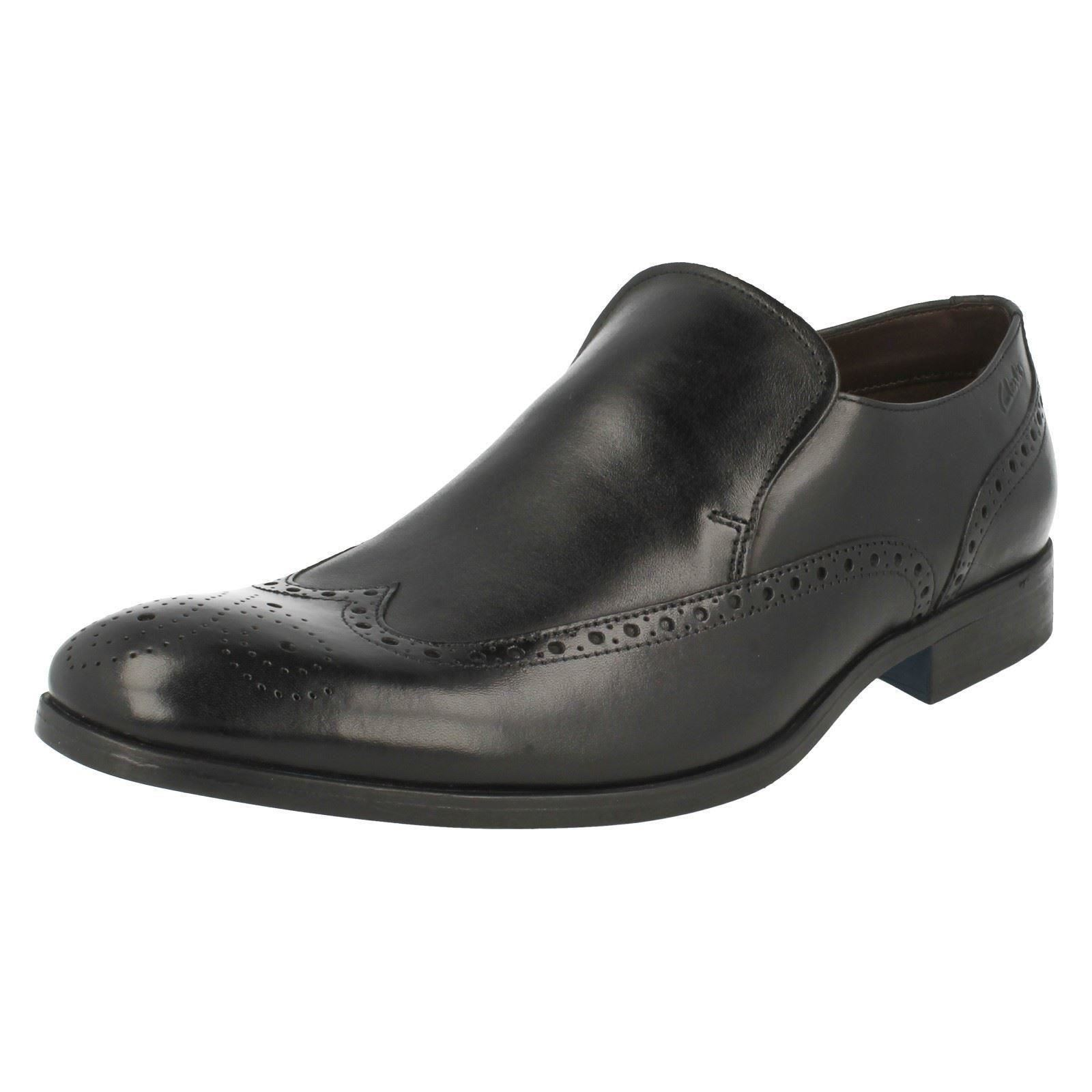 mens clarks formal slip on shoes banfield slip ebay