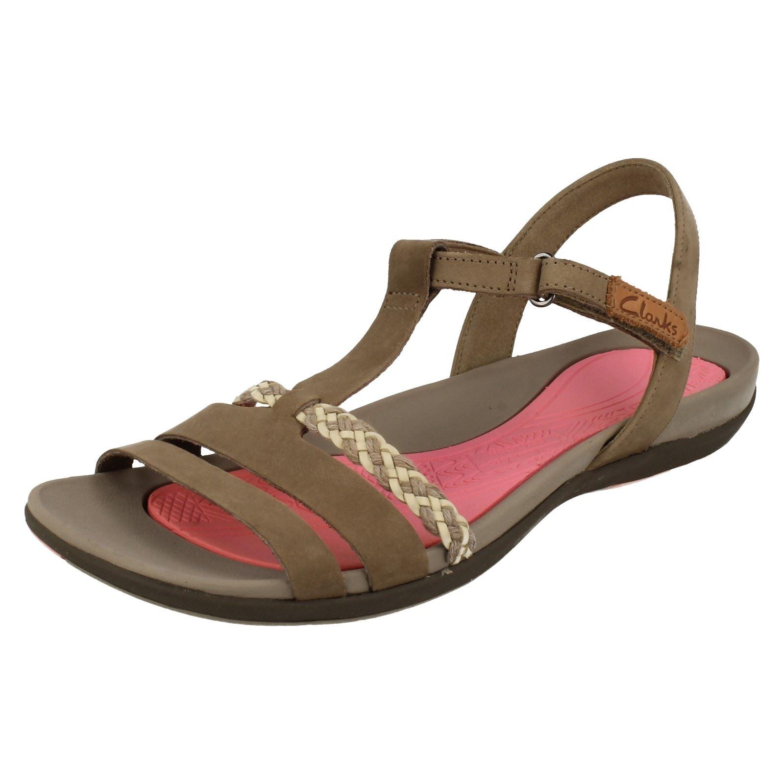 Ladies Clarks Casual Summer Sandals Tealite Grace Ebay