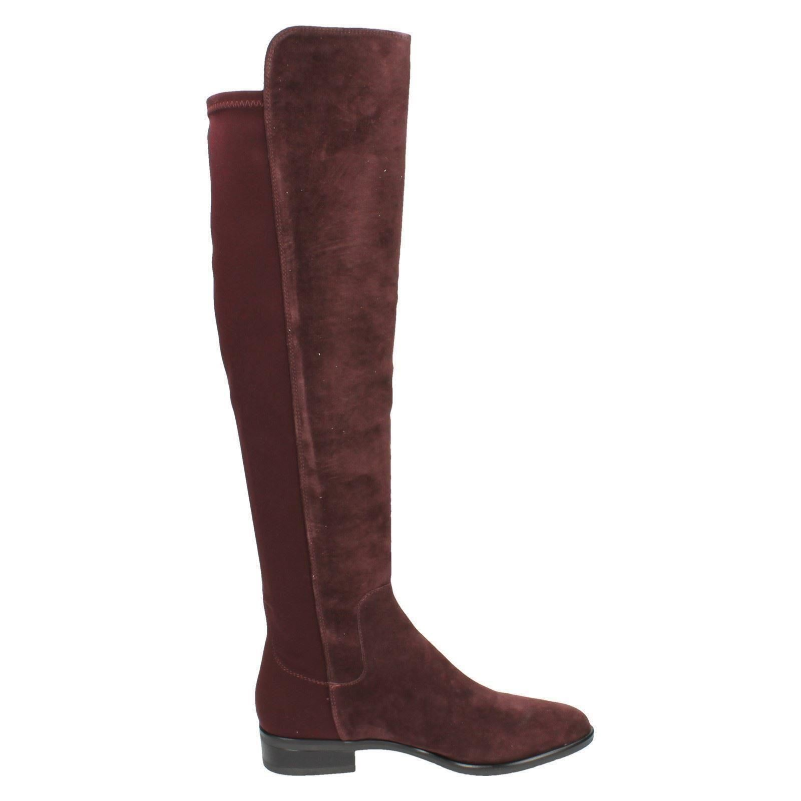 clarks pull on knee length boots caddy ebay