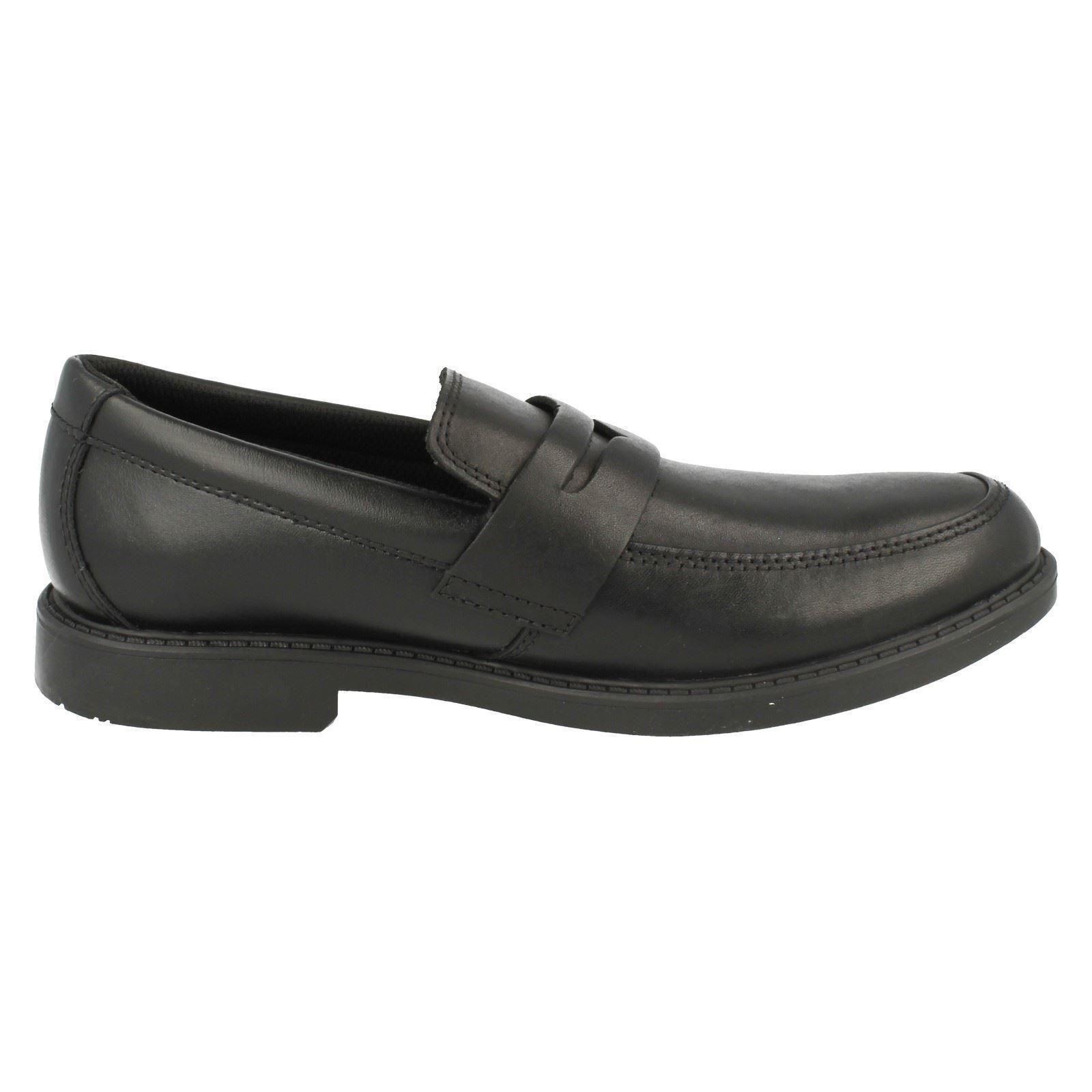Clarks Senior Boys Loafer School Shoes Zayne   EBay