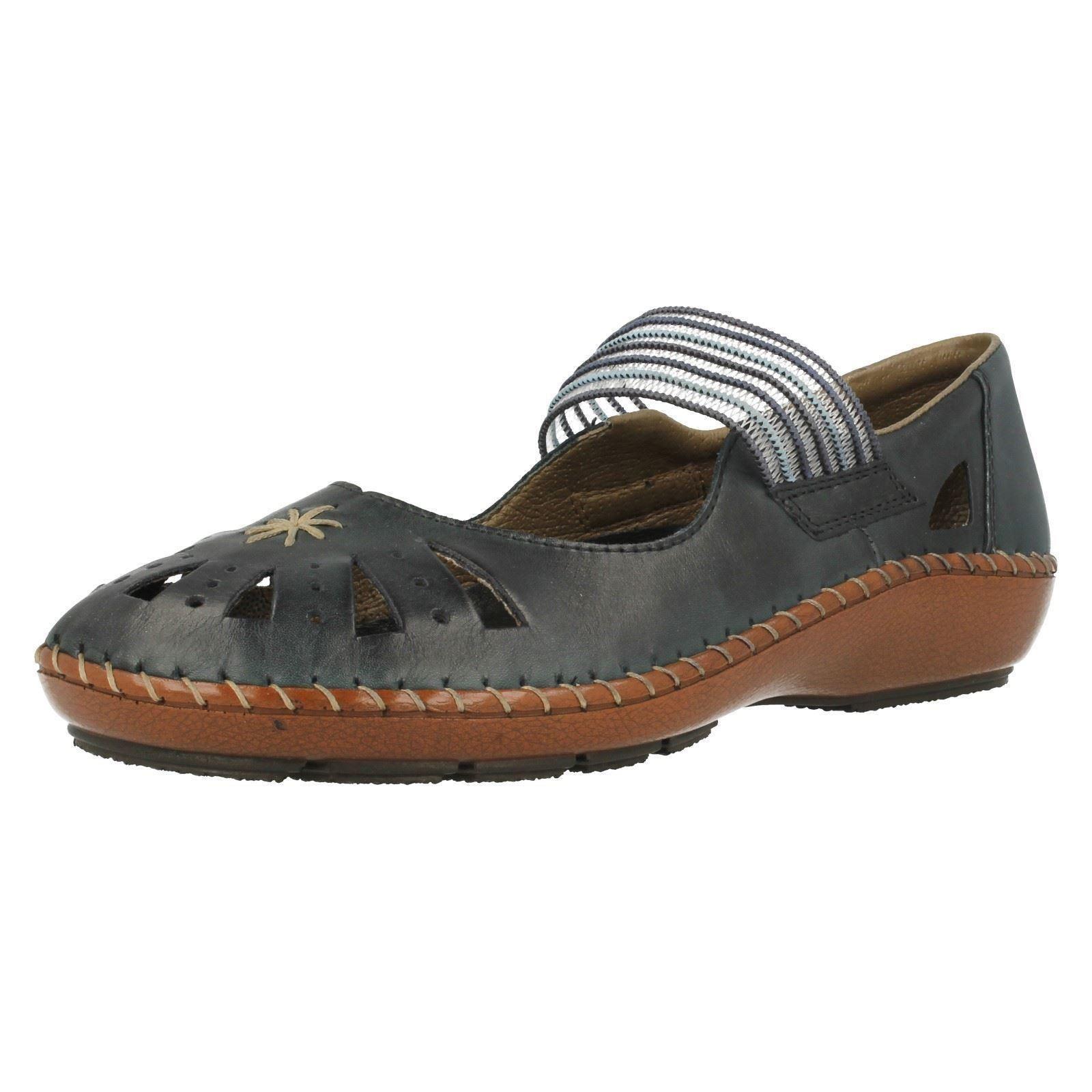 rieker casual flat shoes 44865