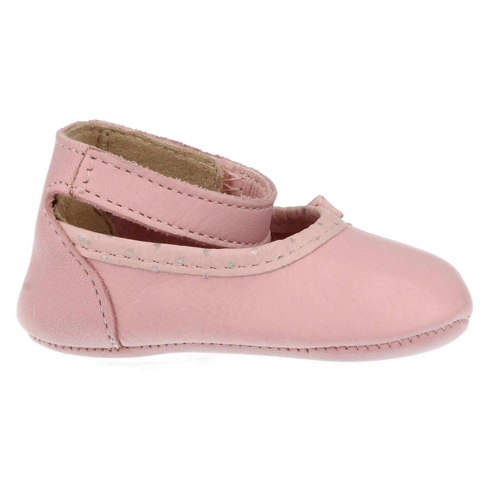 clarks soft leather pram shoes with baby