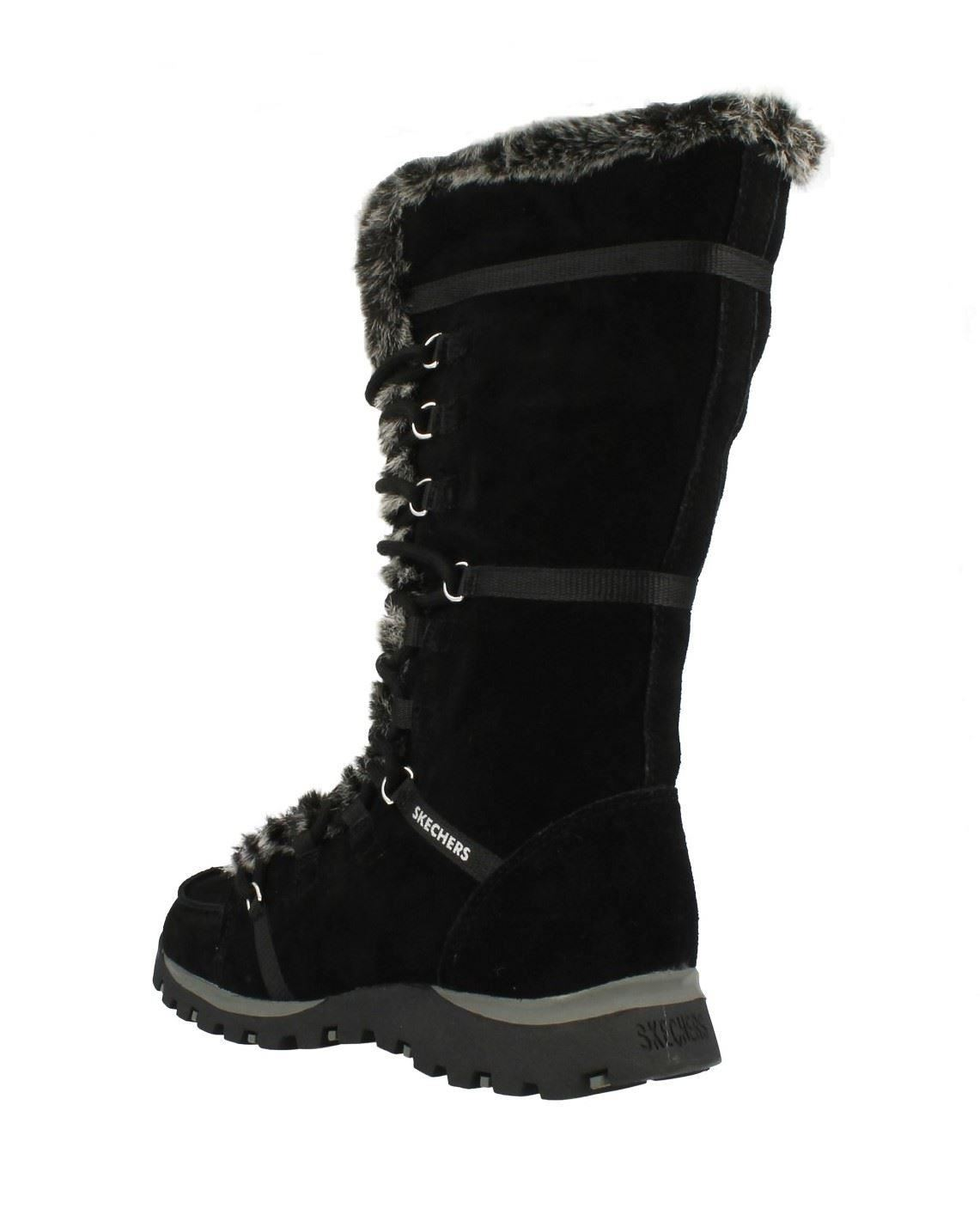 Ladies Skechers Mid Calf Winter Boots Grand Jams Unlimited