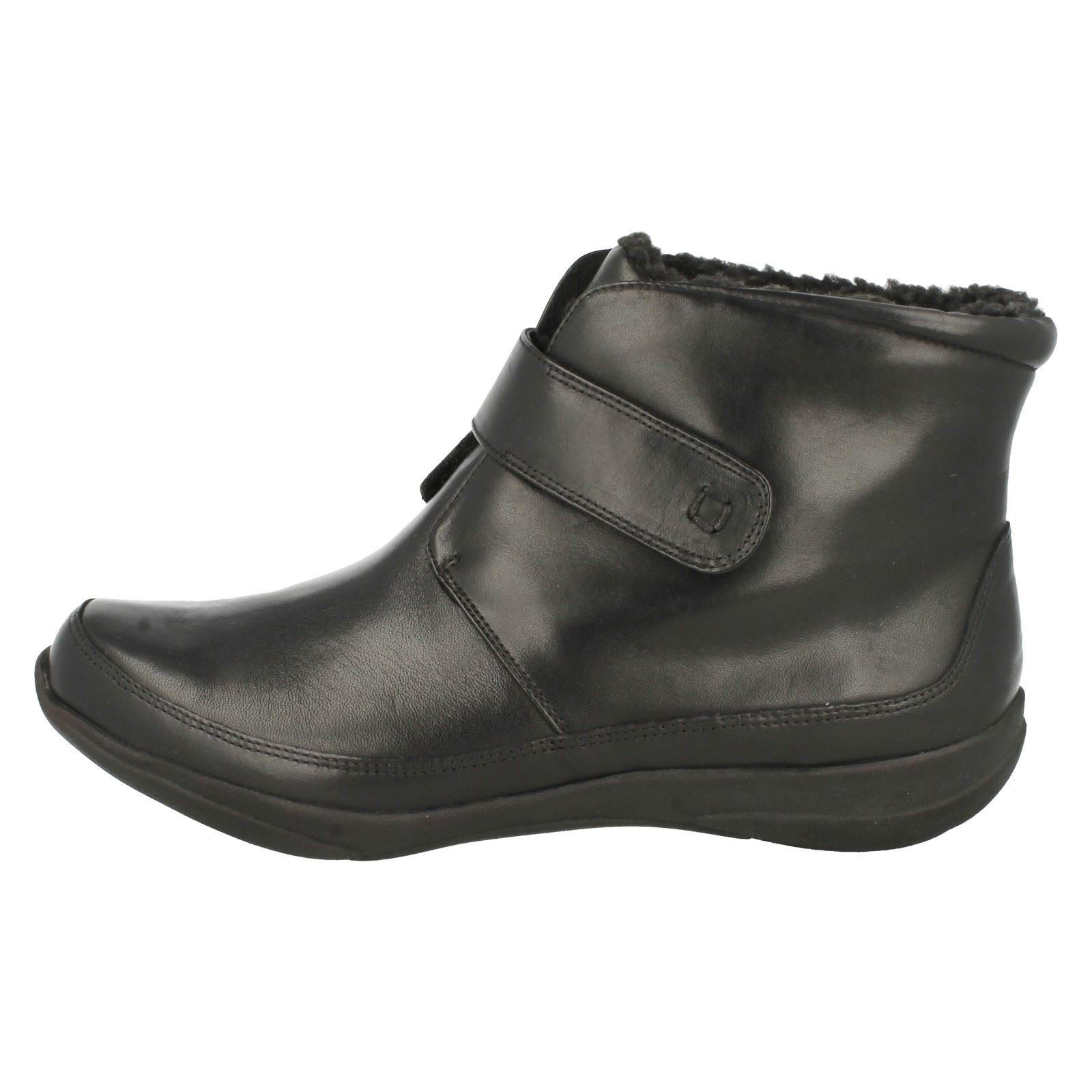 k s by clarks leather riptape wide fitting ankle