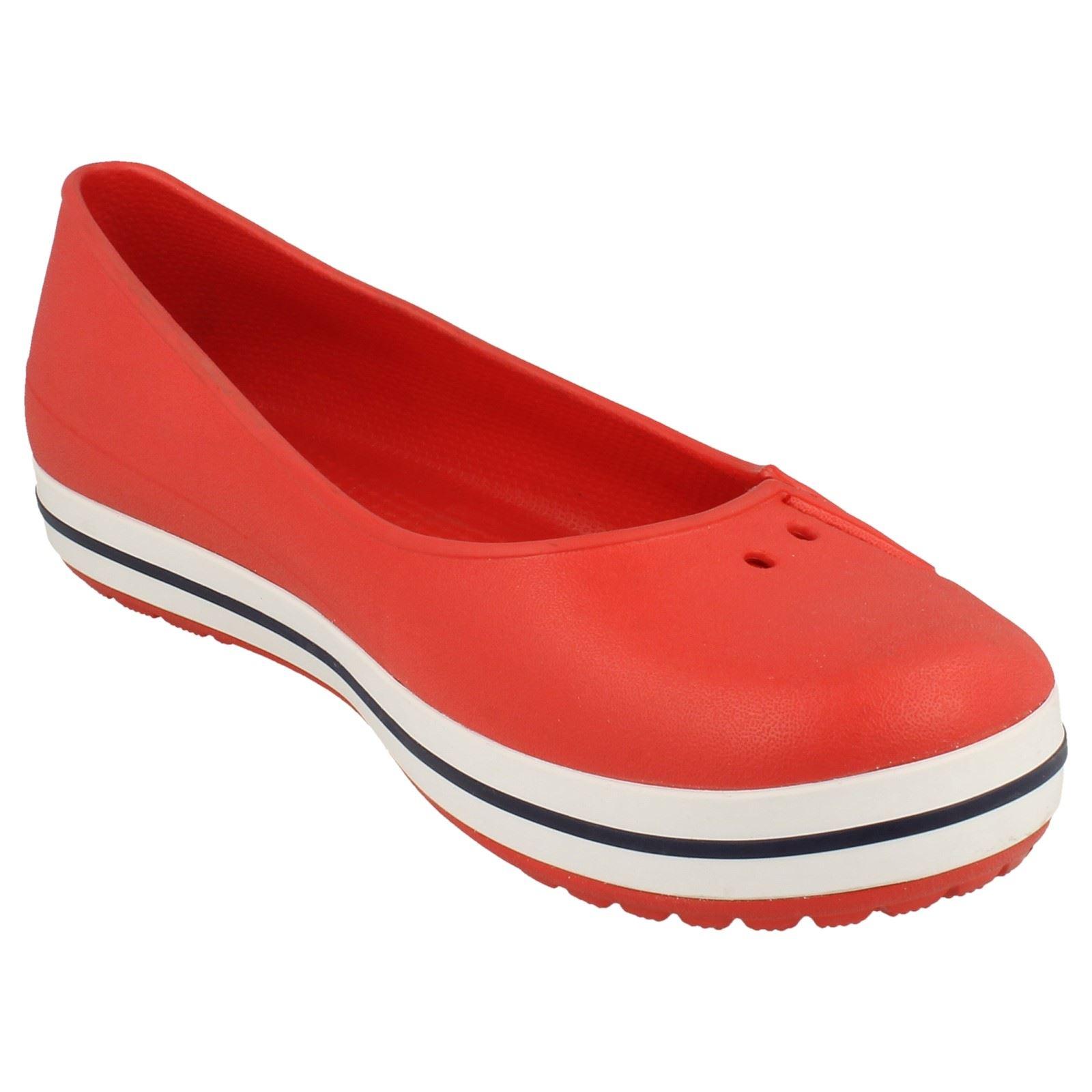 Crocs Crocband Navy And White Shoe