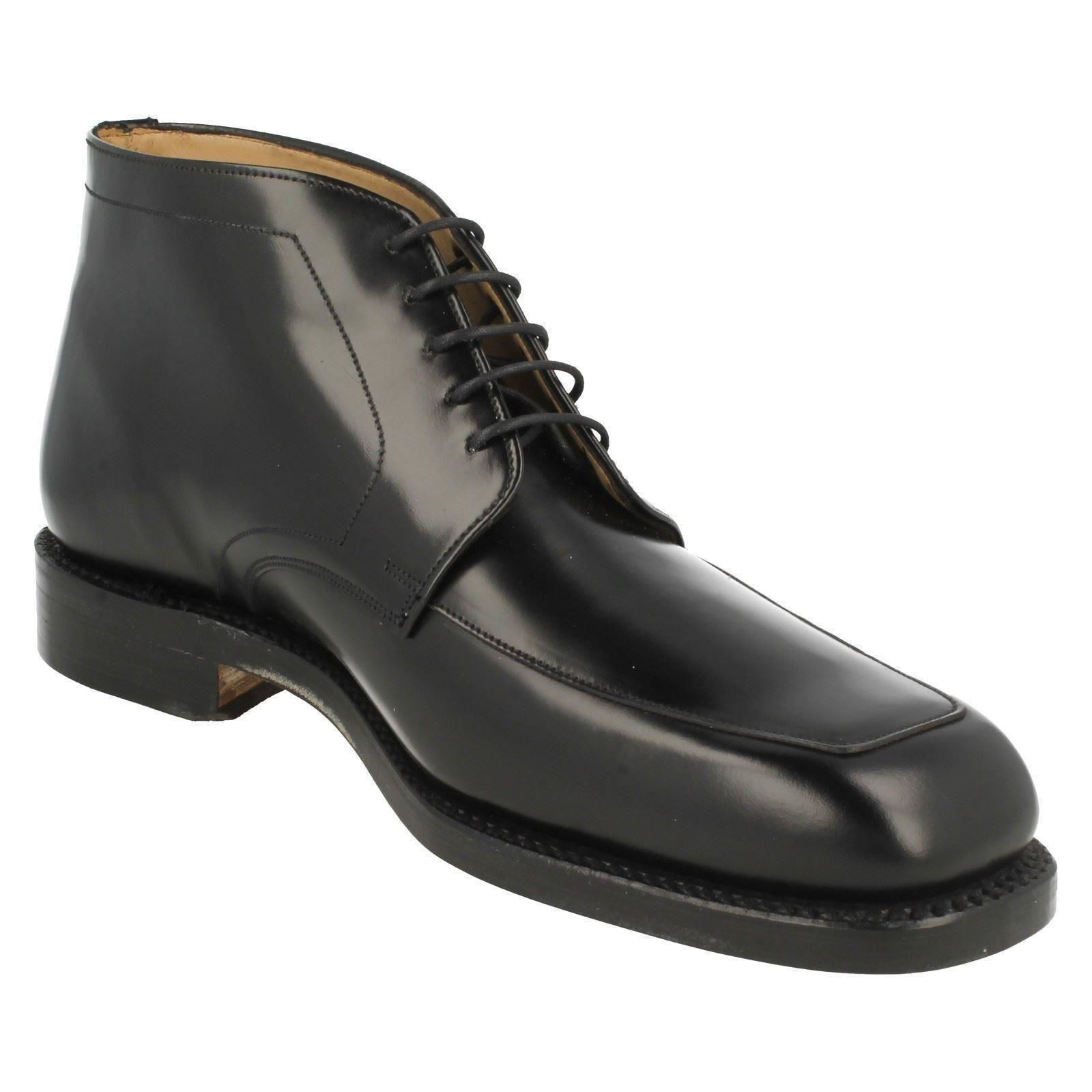 mens grenson hi shine leather lace up ankle boots