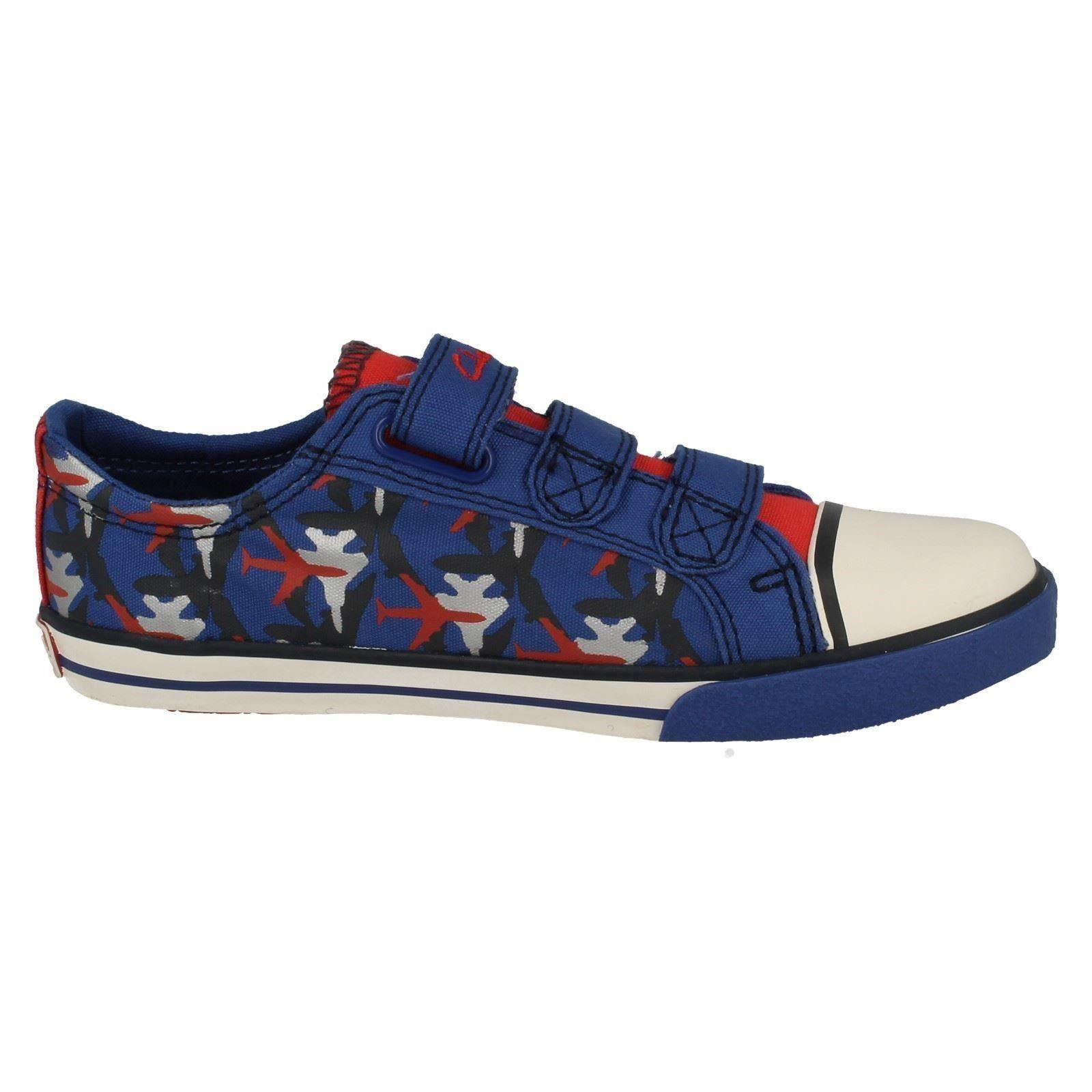 boys clarks canvas shoes wing it ebay