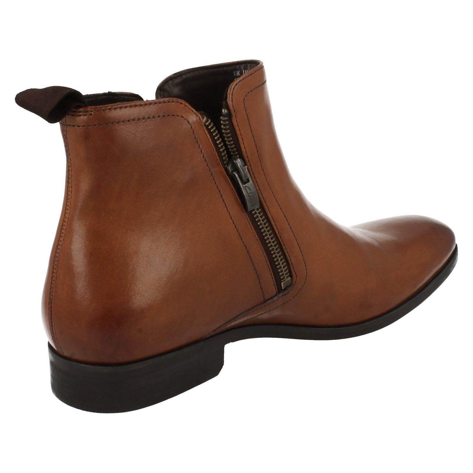 mens clarks smart zipped ankle boots banfield zip ebay