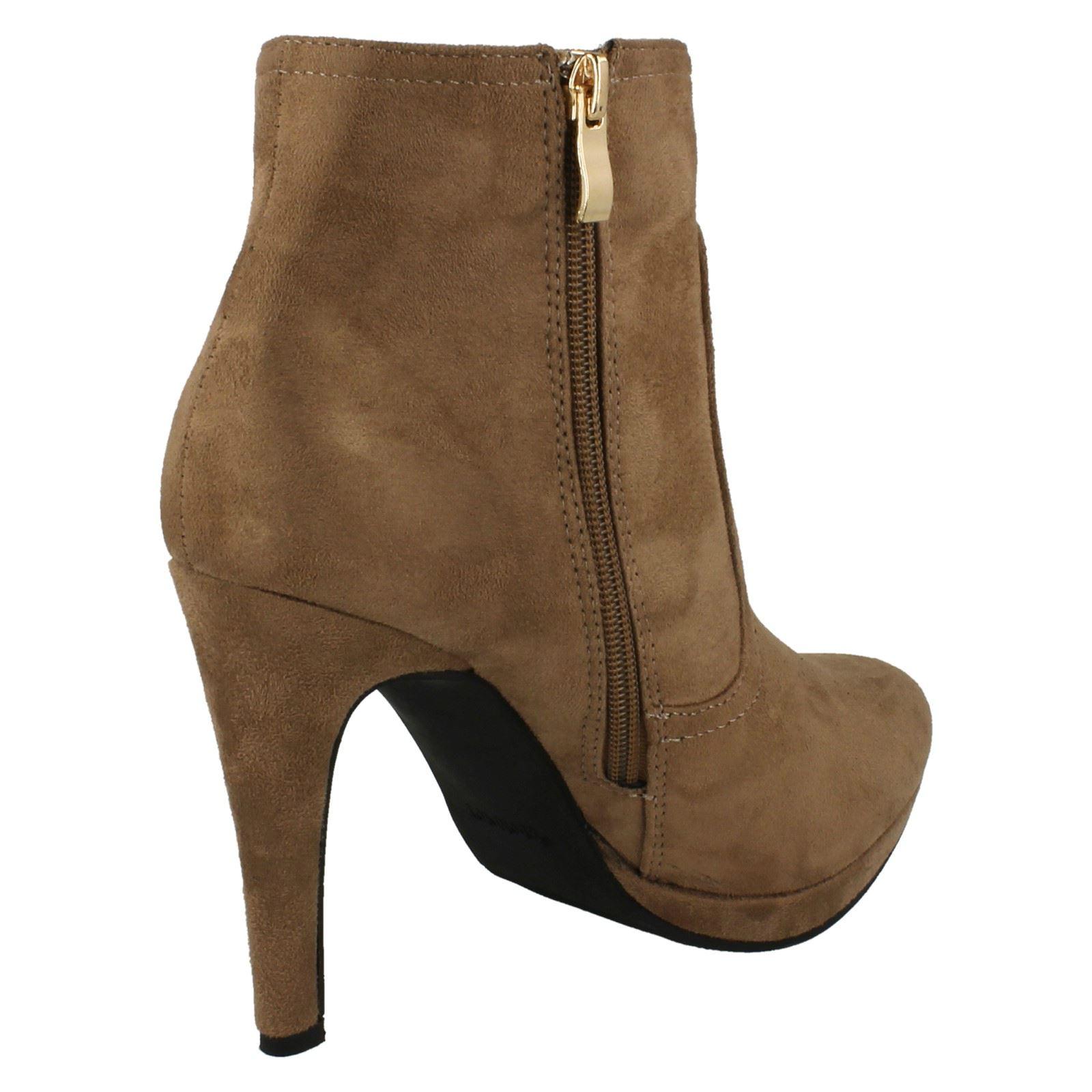 spot on slim heel ankle boots style 679 ebay