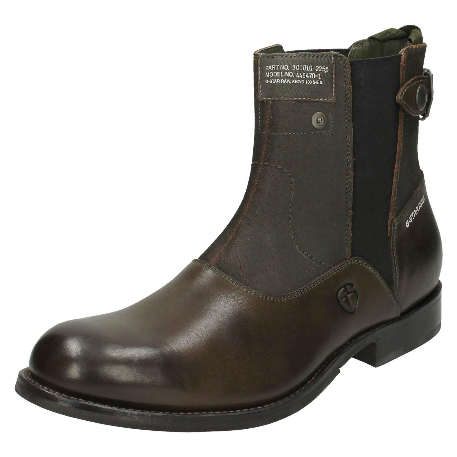 mens g star raw ankle boots attache. Black Bedroom Furniture Sets. Home Design Ideas