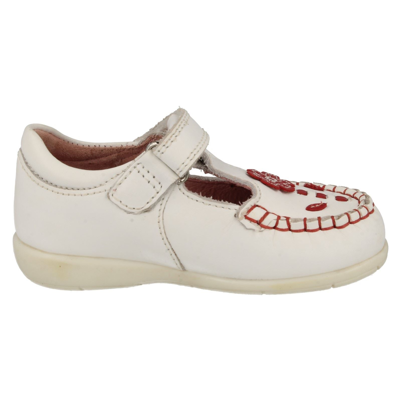 infant startrite white leather t bar shoes leila