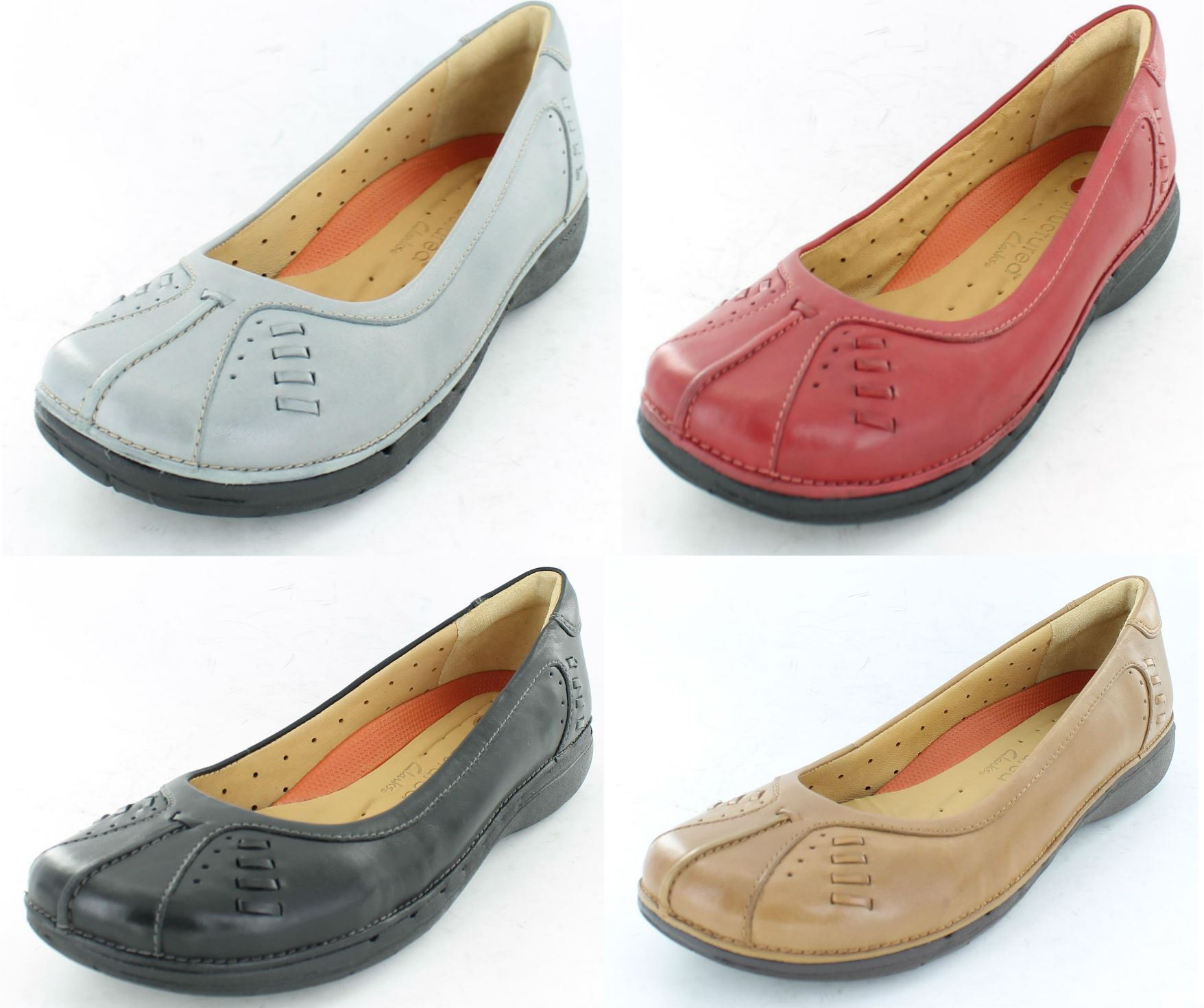 clarks unstructured women's shoes