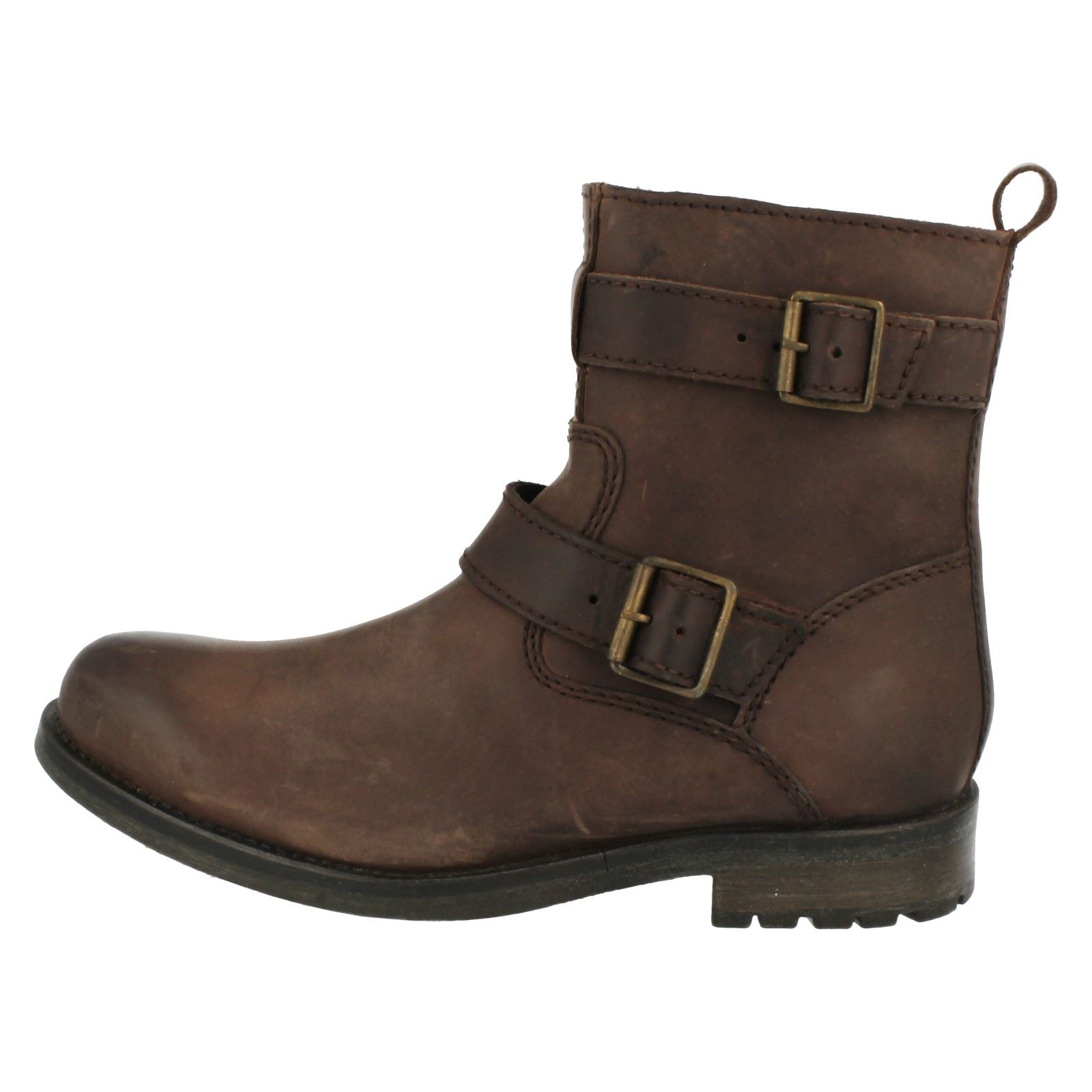 Mens Clarks Ankle Boots 'Russett Strap'